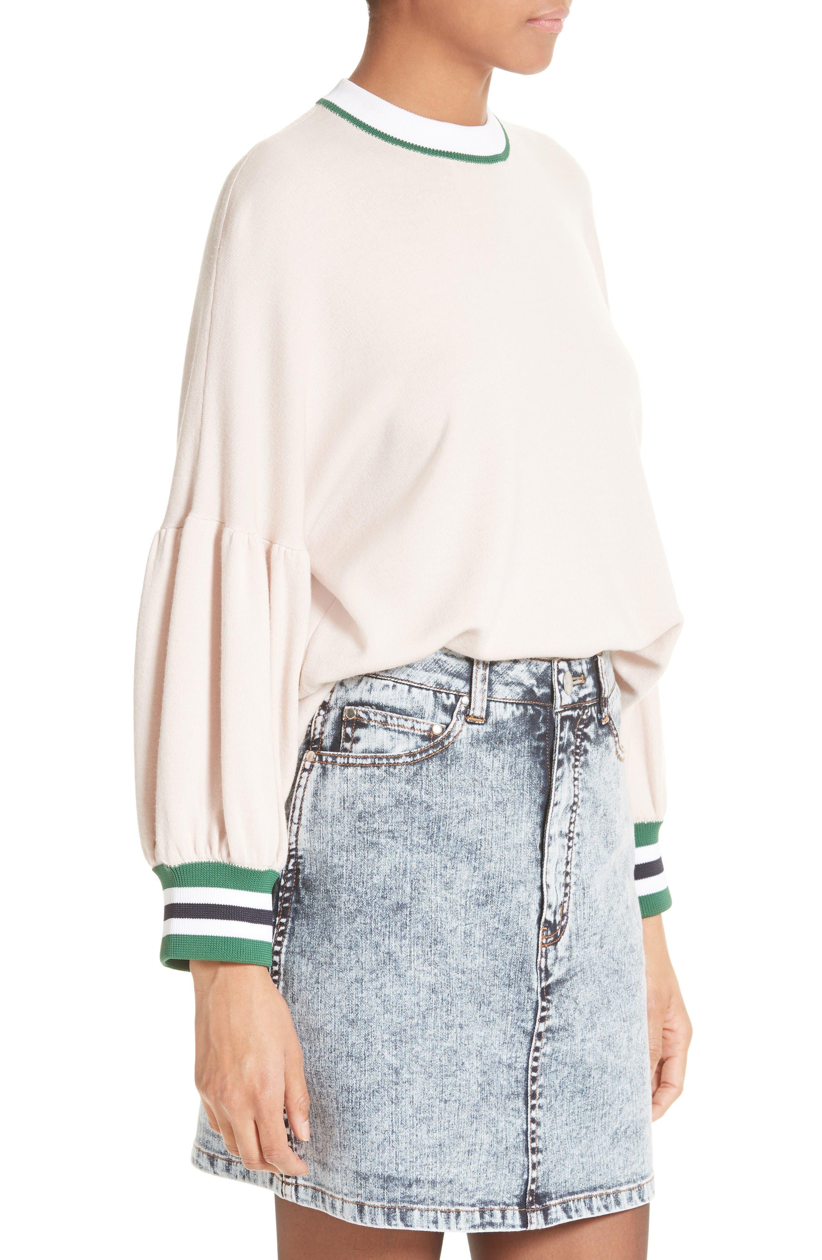 Alternate Image 4  - Tibi Wool Puff Sleeve Pullover