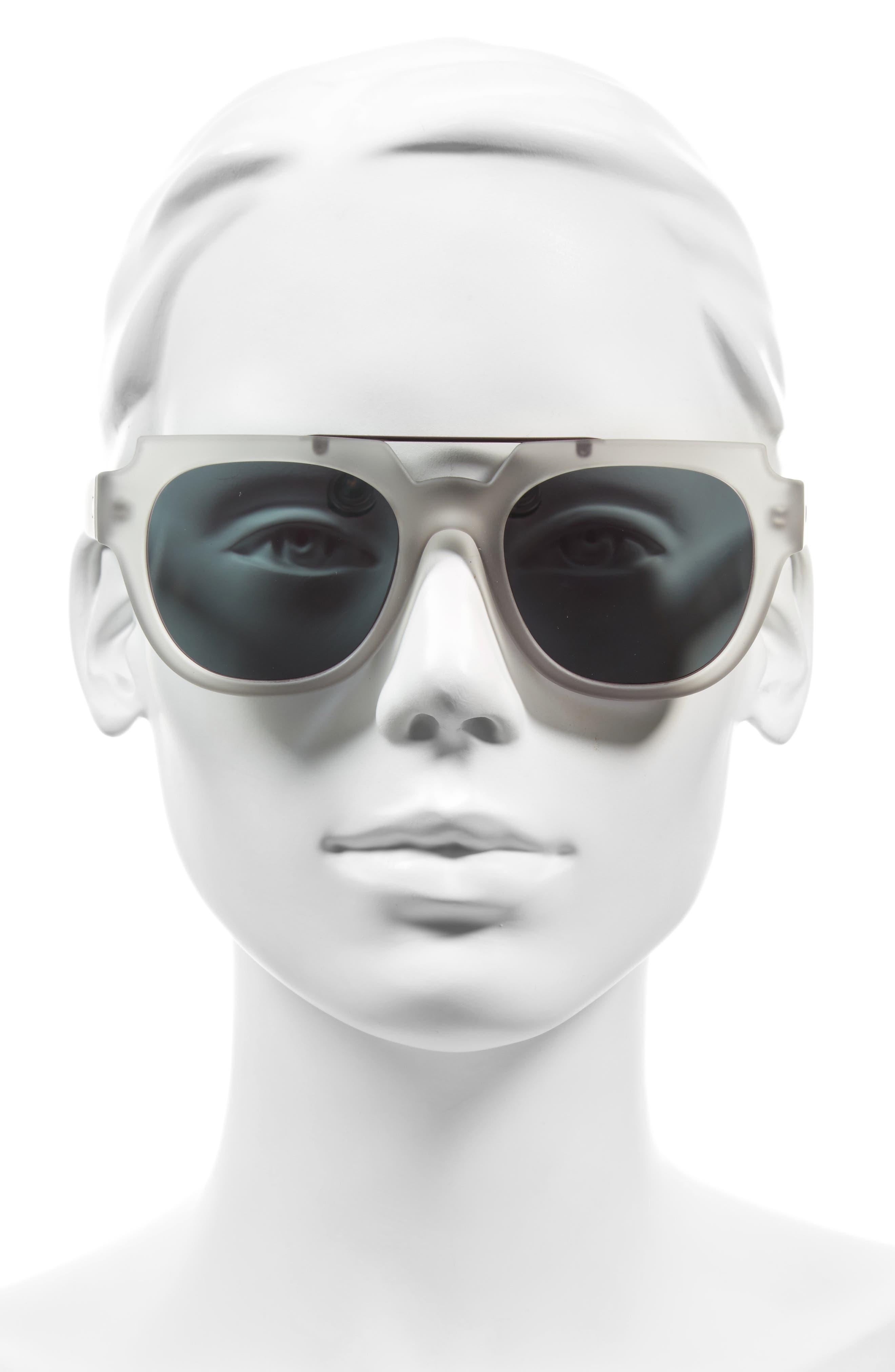 La Habana 52mm Retro Sunglasses,                             Alternate thumbnail 2, color,                             Matte Mist