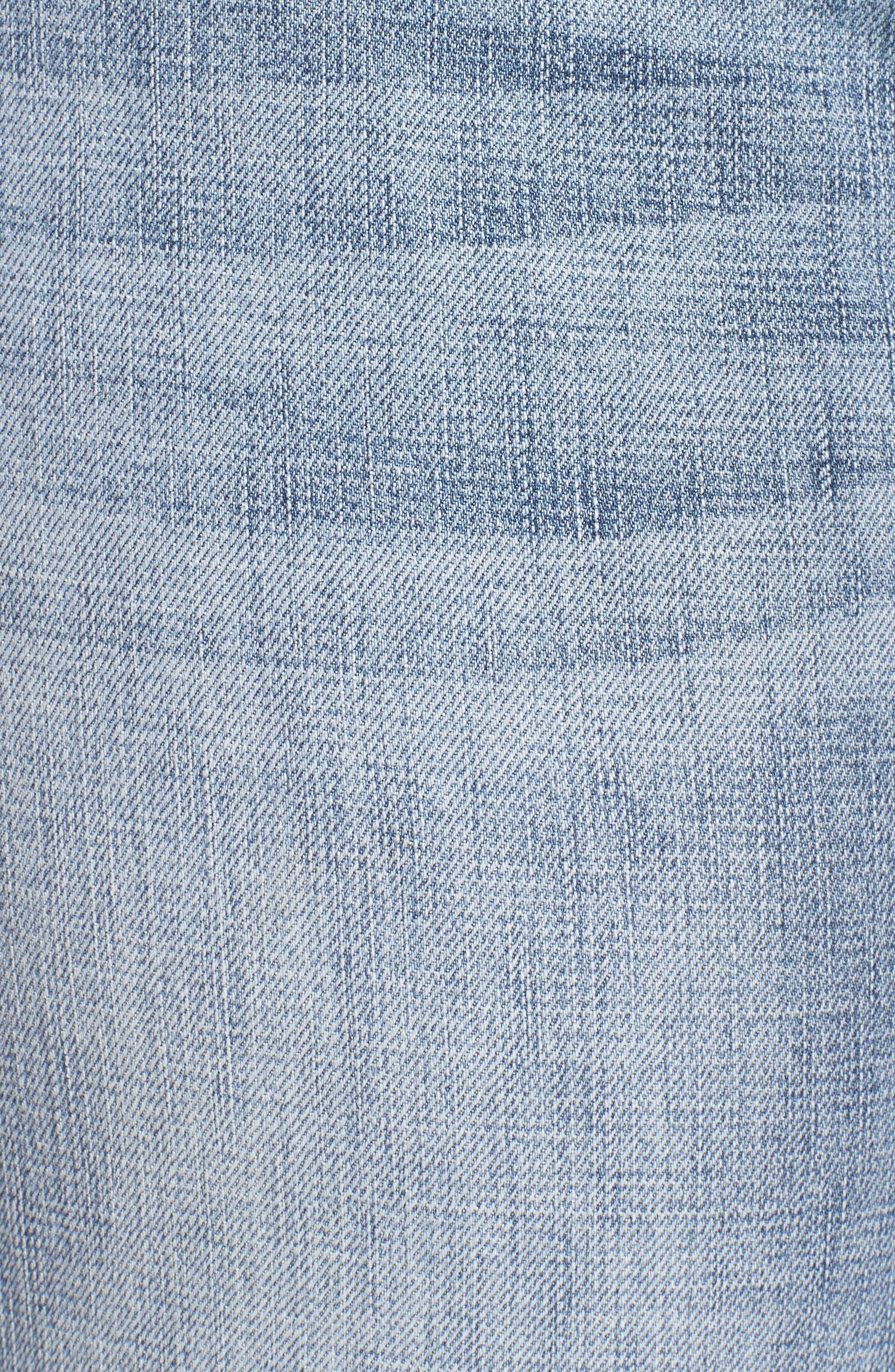 Alternate Image 7  - KUT from the Kloth Catherine Fray Hem Distressed Boyfriend Jeans (Plus Size)