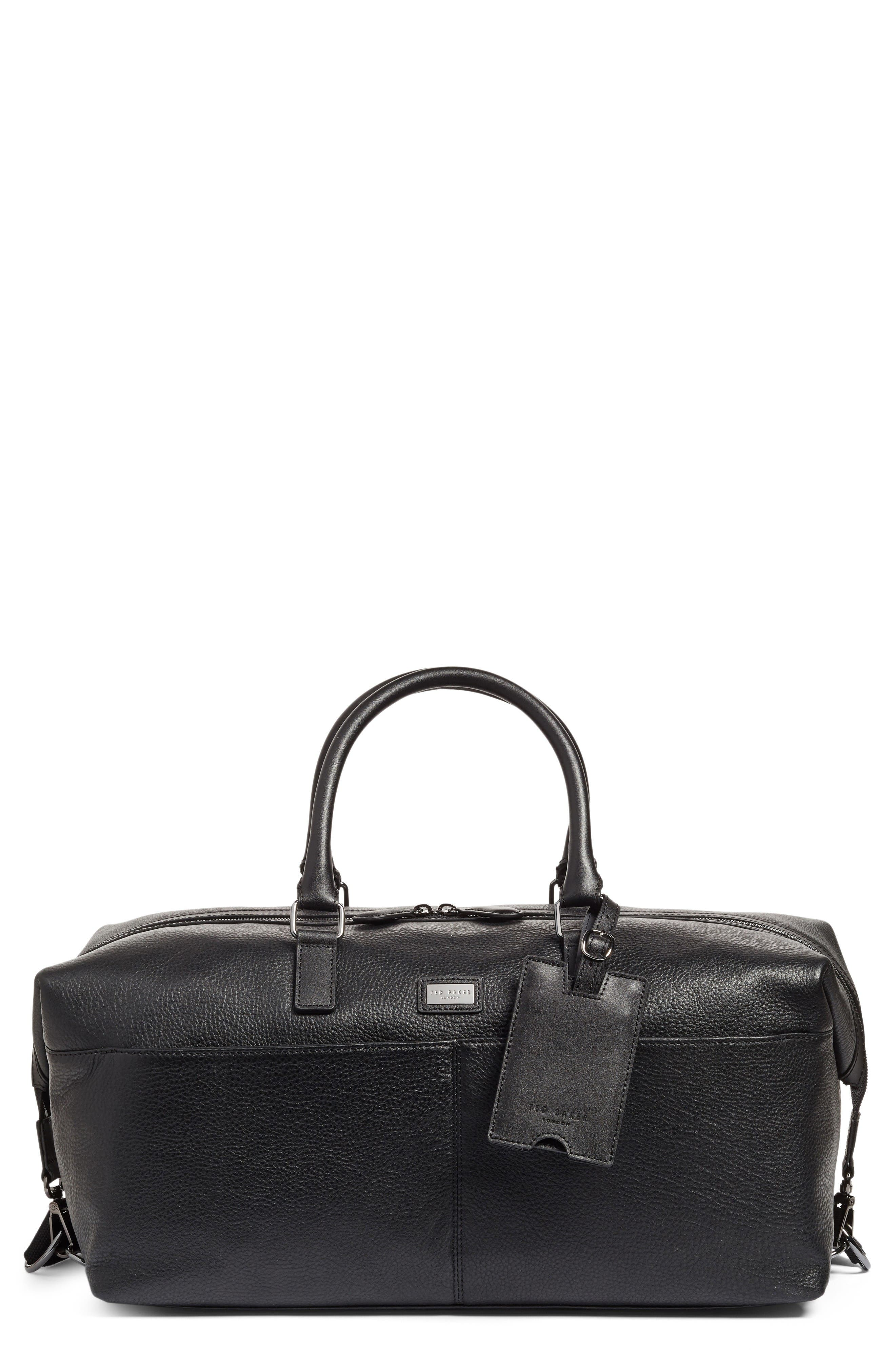 TED BAKER LONDON Leather Duffel Bag