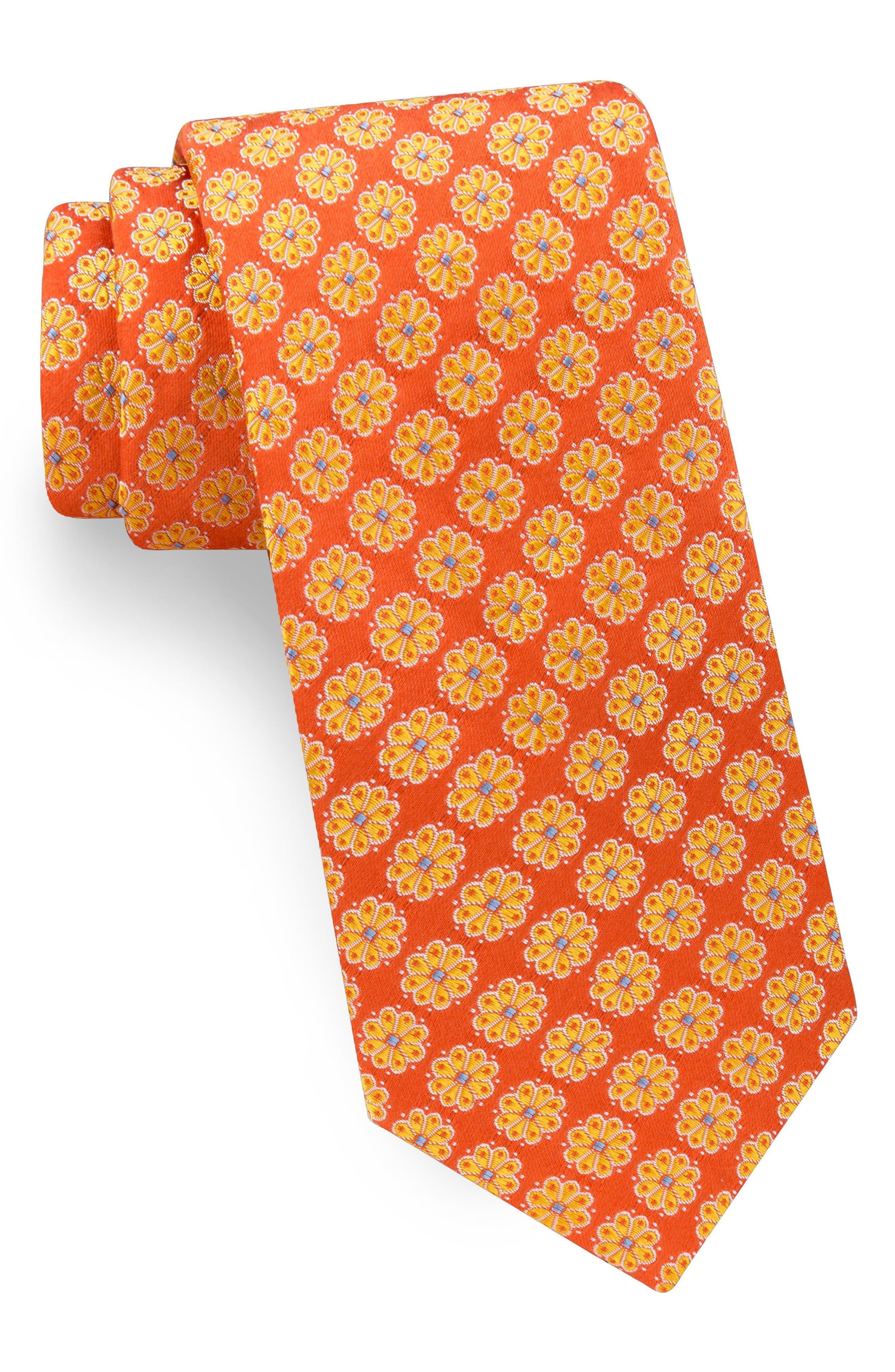 Alternate Image 1 Selected - Ted Baker London Daisy Silk Tie