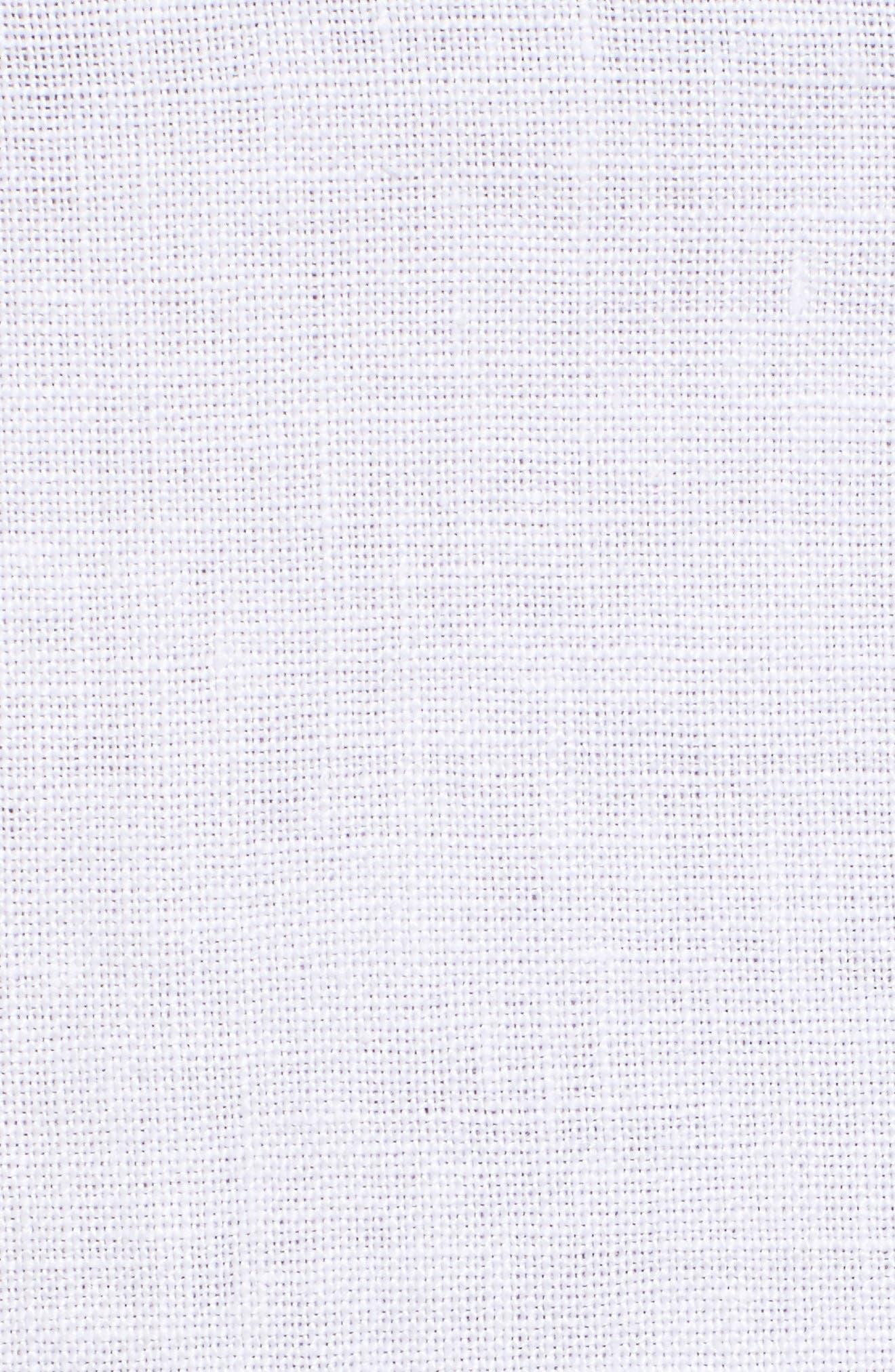 Alternate Image 5  - Eileen Fisher Organic Linen Wide Leg Crop Pants (Plus Size)