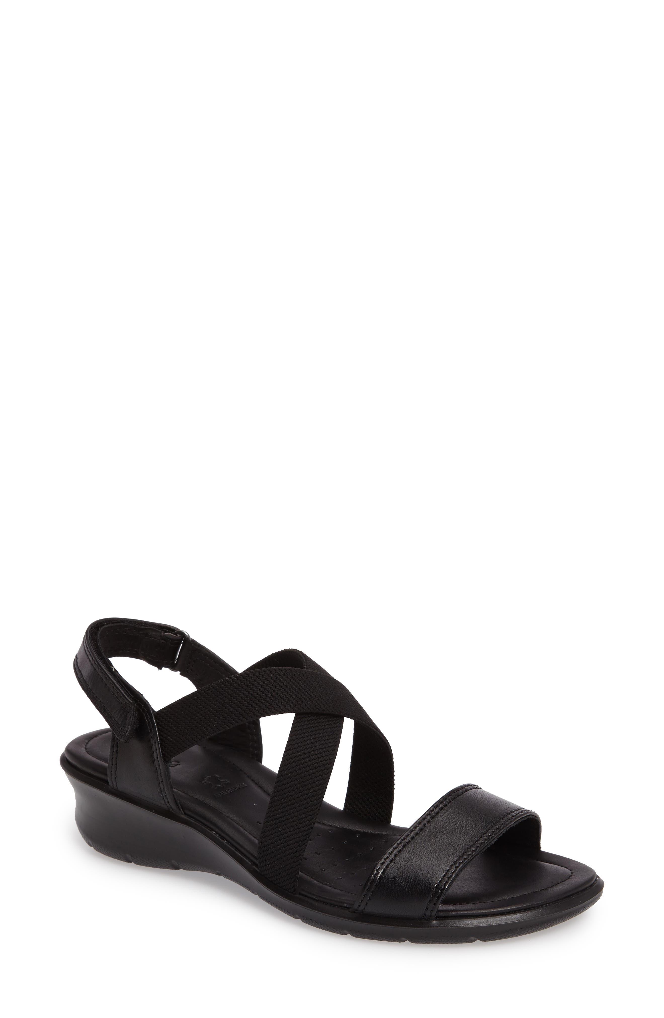 Felicia Sandal,                         Main,                         color, Black Leather