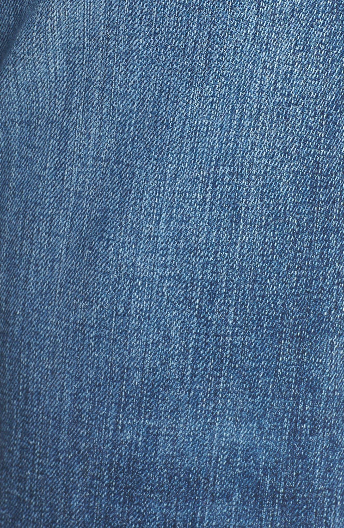 Alternate Image 5  - AG The Ex Boyfriend Crop Jeans (12 Years Blue Aura)