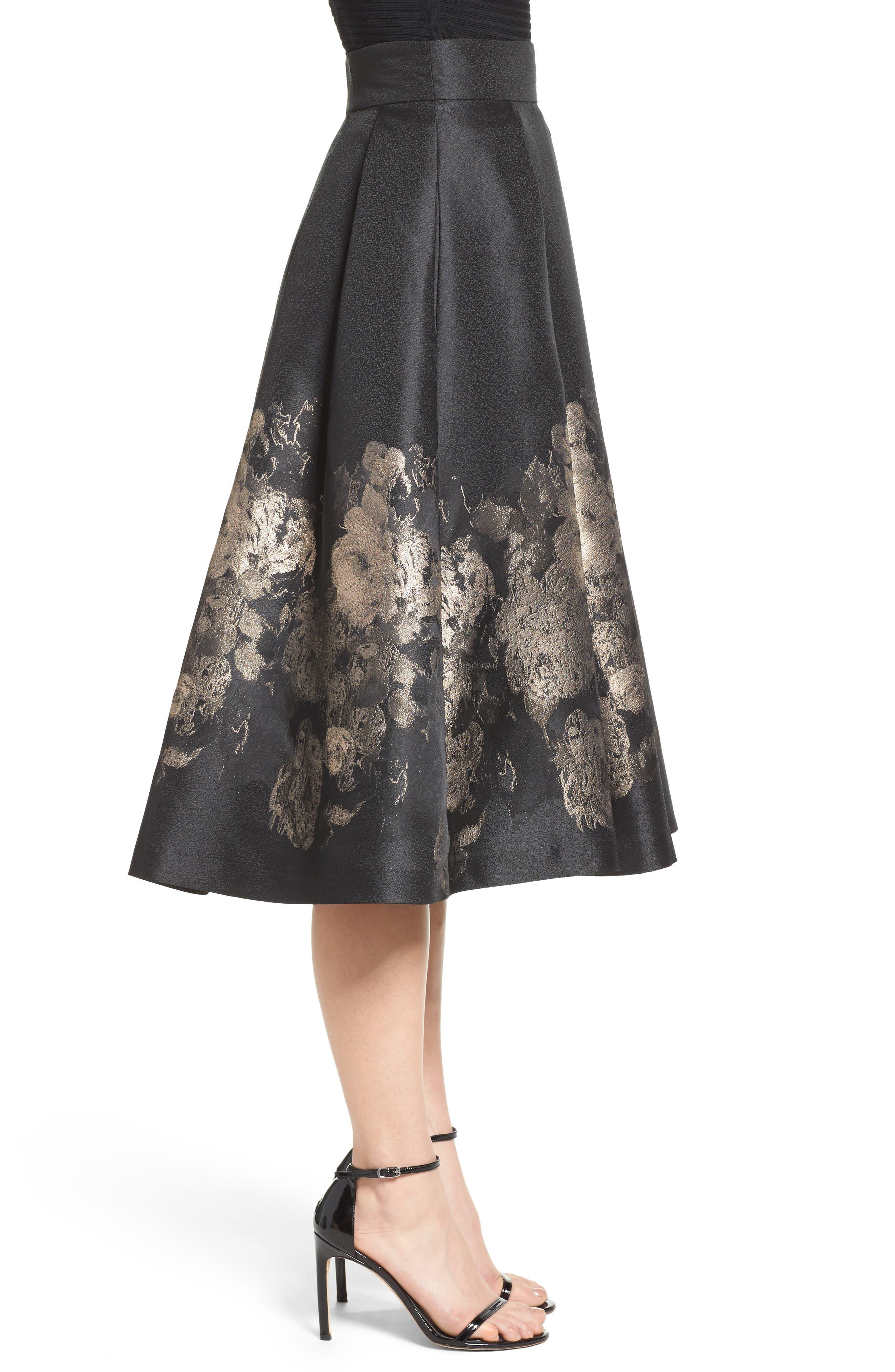Alternate Image 4  - Eliza J Pleated Mikado Midi Skirt