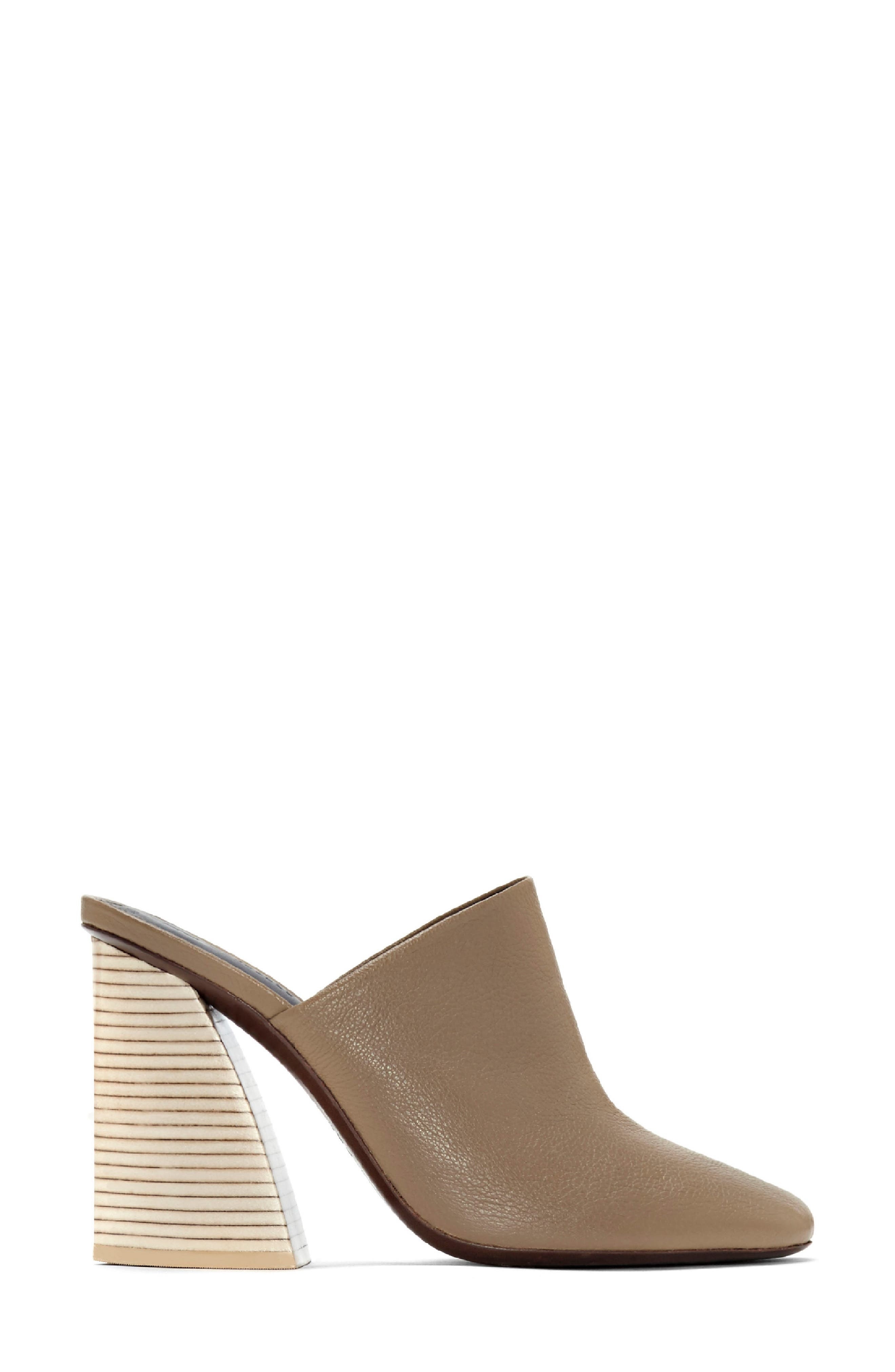 Aria Mule,                             Alternate thumbnail 3, color,                             Taupe