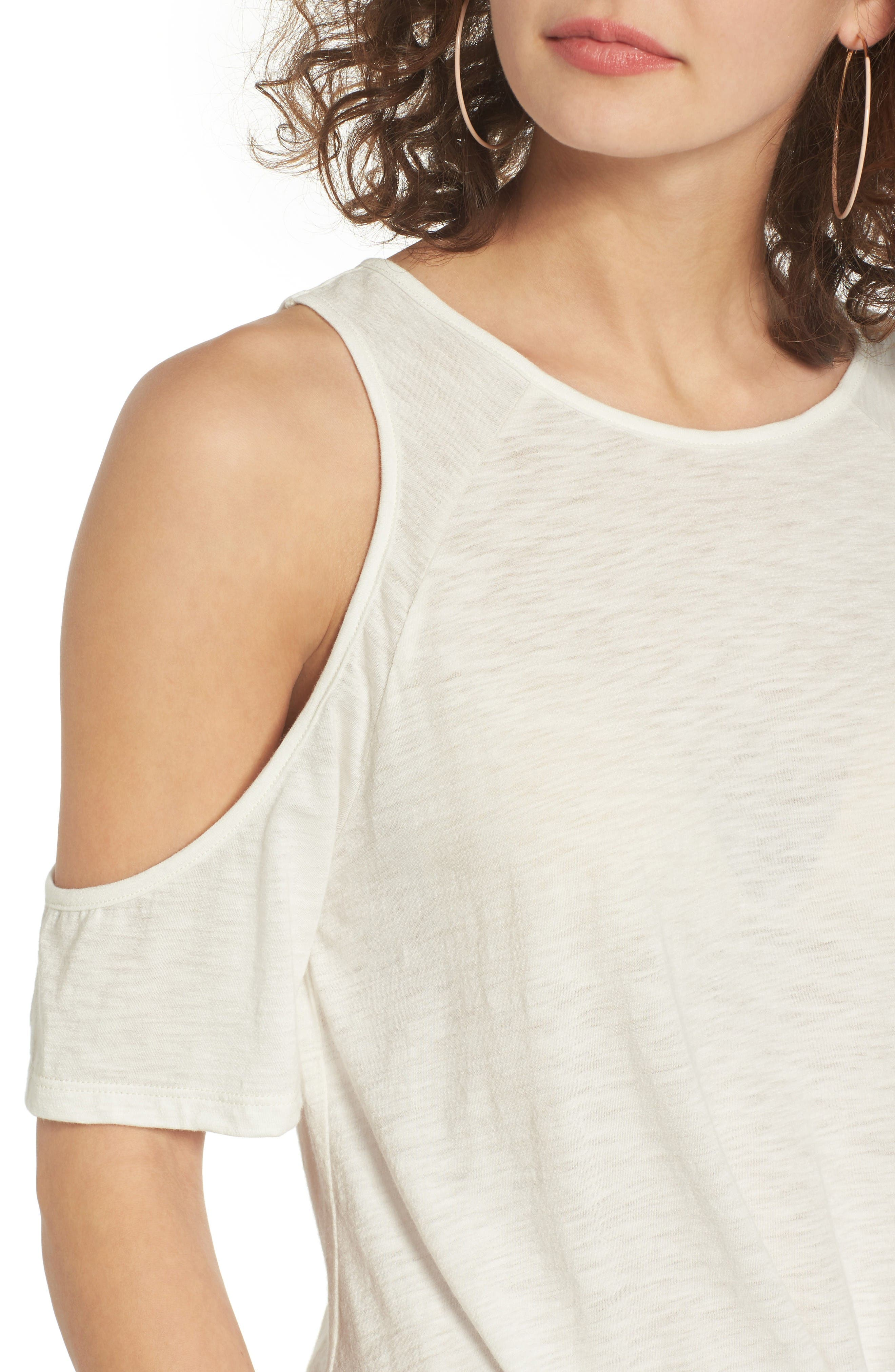 Alternate Image 4  - BP. Twist Front Cold Shoulder Tee