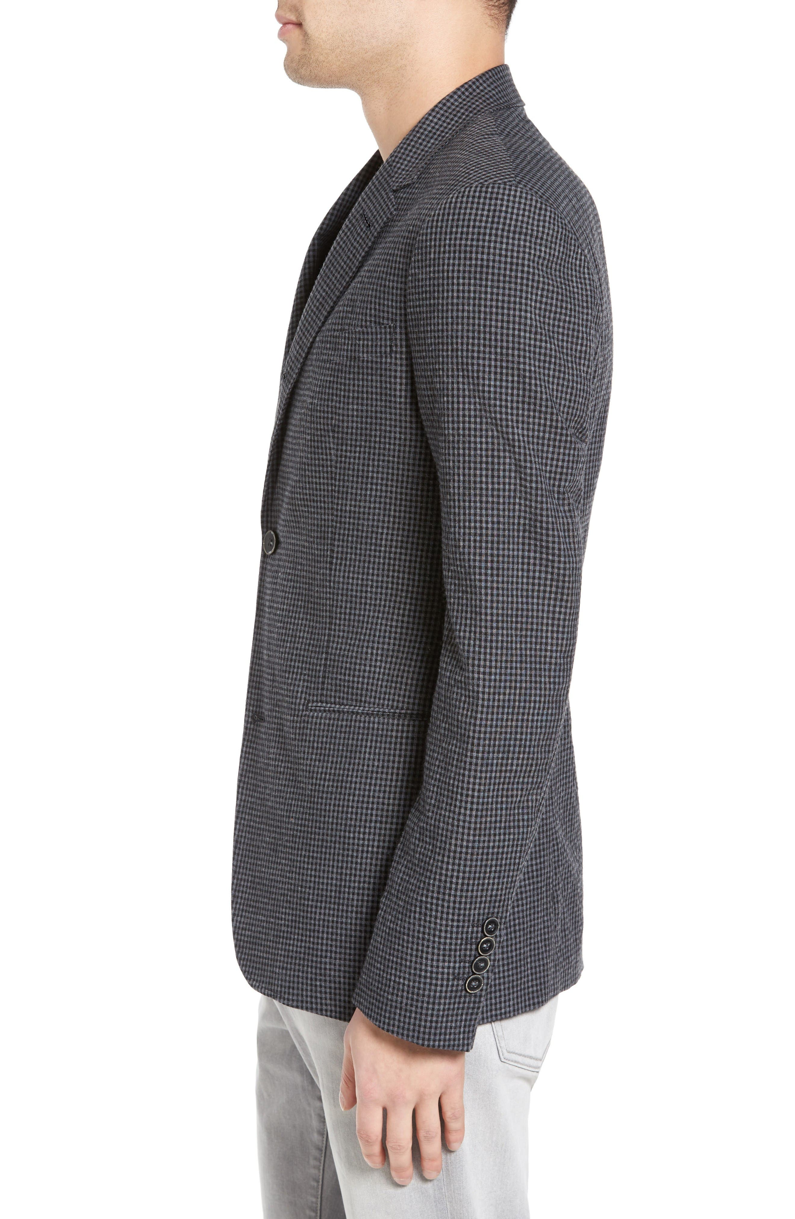 Alternate Image 3  - John Varvatos Star USA Thompson Four-Button Convertible Collar Sport Coat