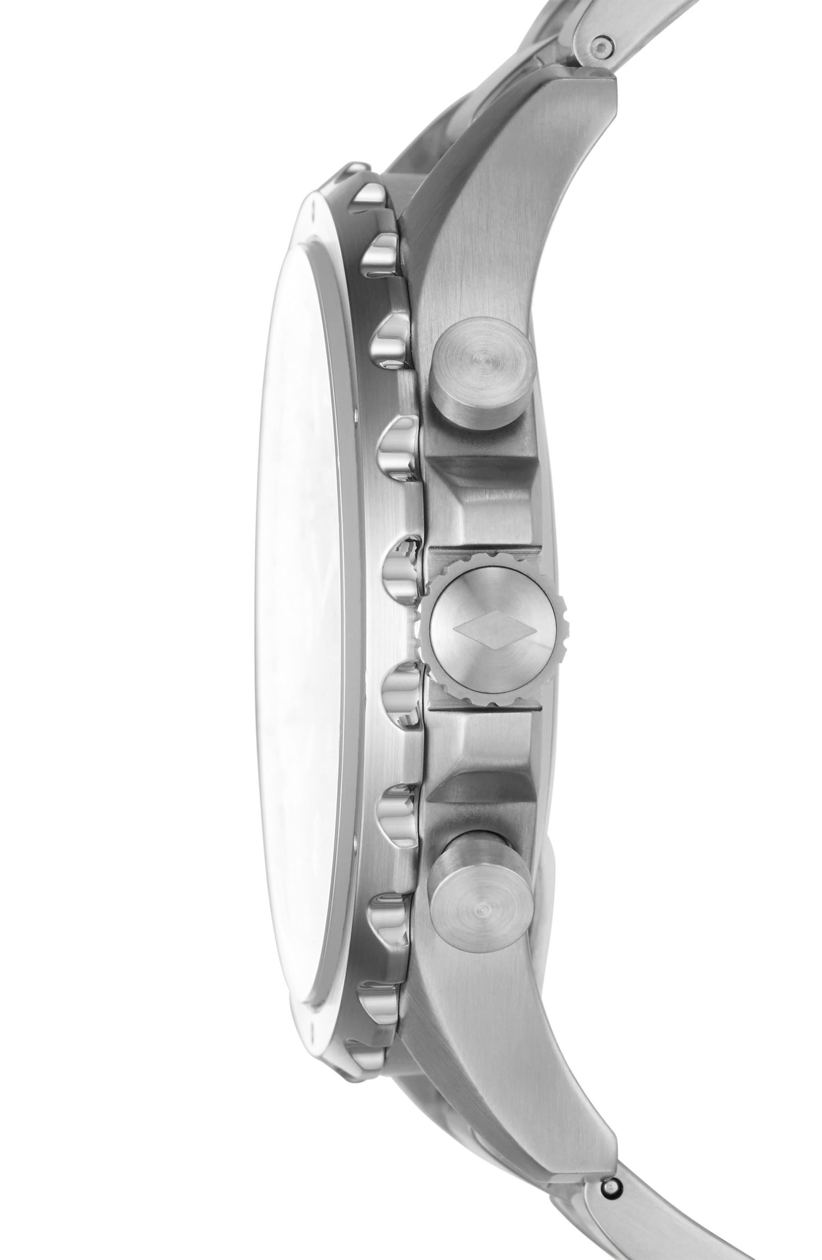 Alternate Image 3  - Fossil Q Nate Bracelet Hybrid Smart Watch, 50mm