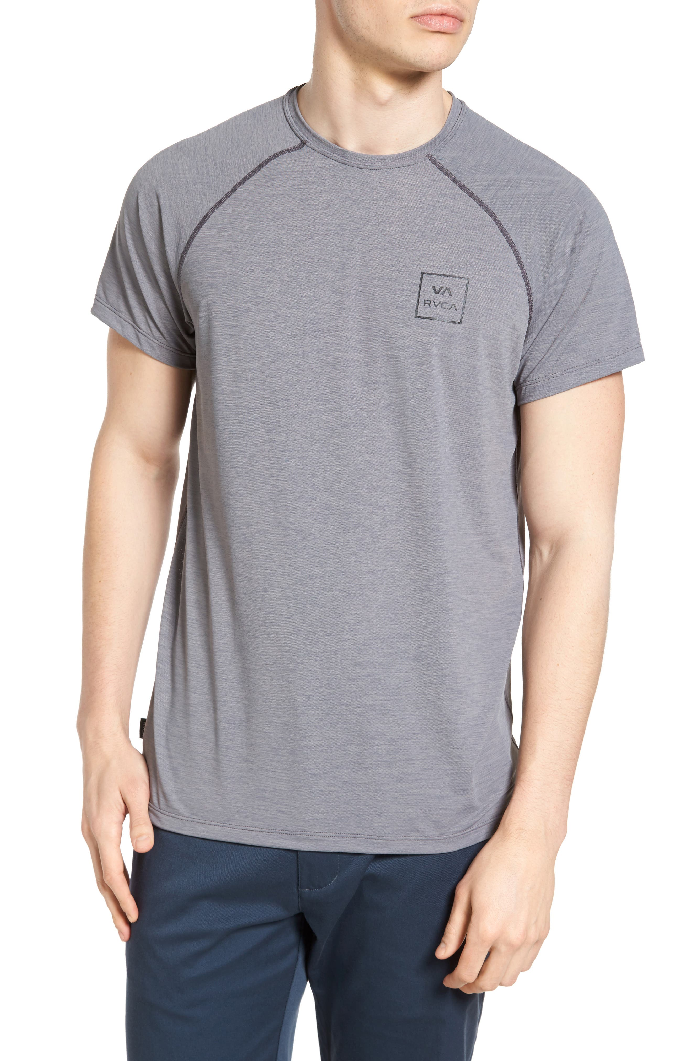VA All the Way Surf T-Shirt,                         Main,                         color, Grey Heather