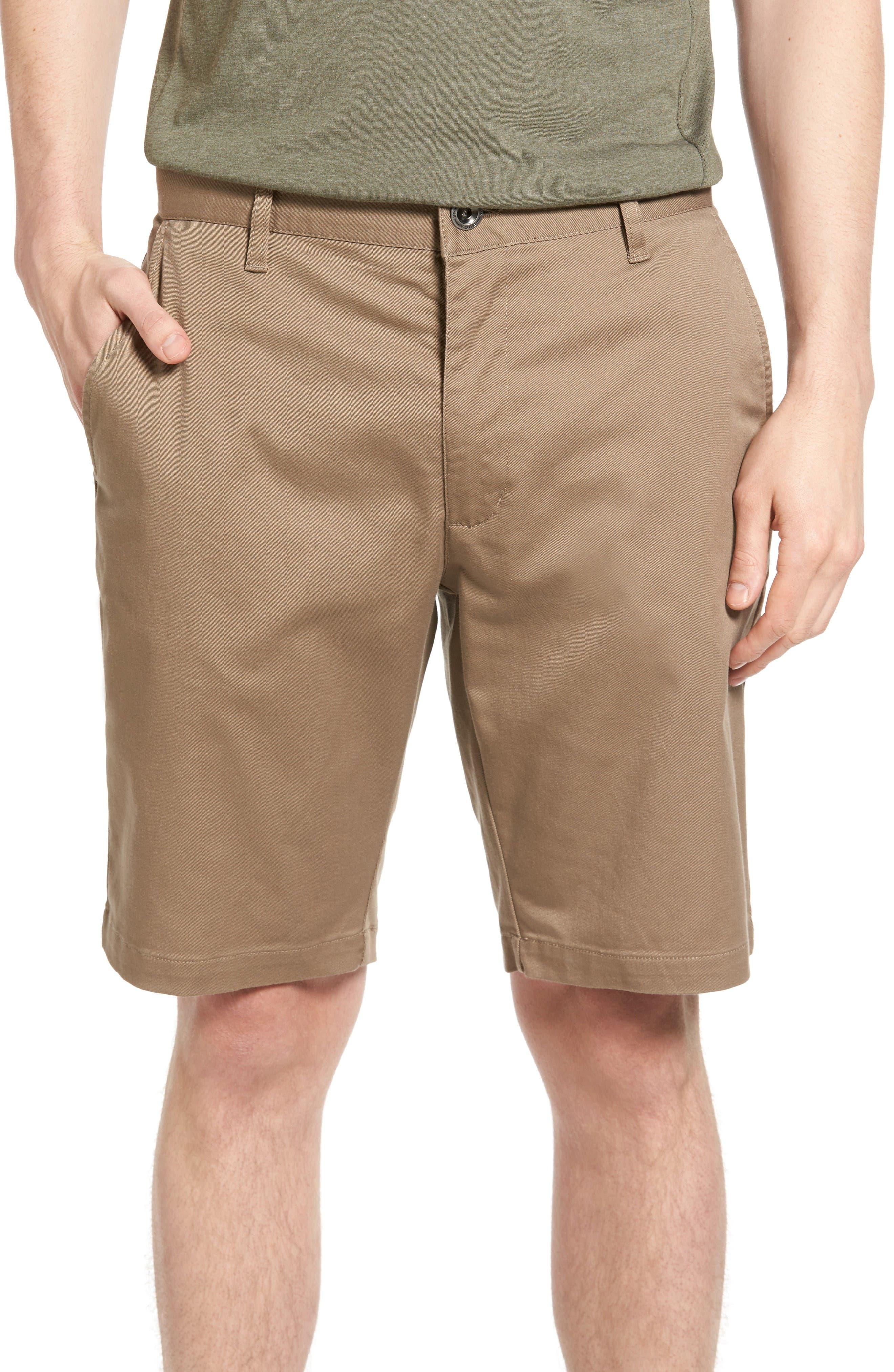 The Week-End Stretch Twill Chino Shorts,                         Main,                         color, Dark Khaki