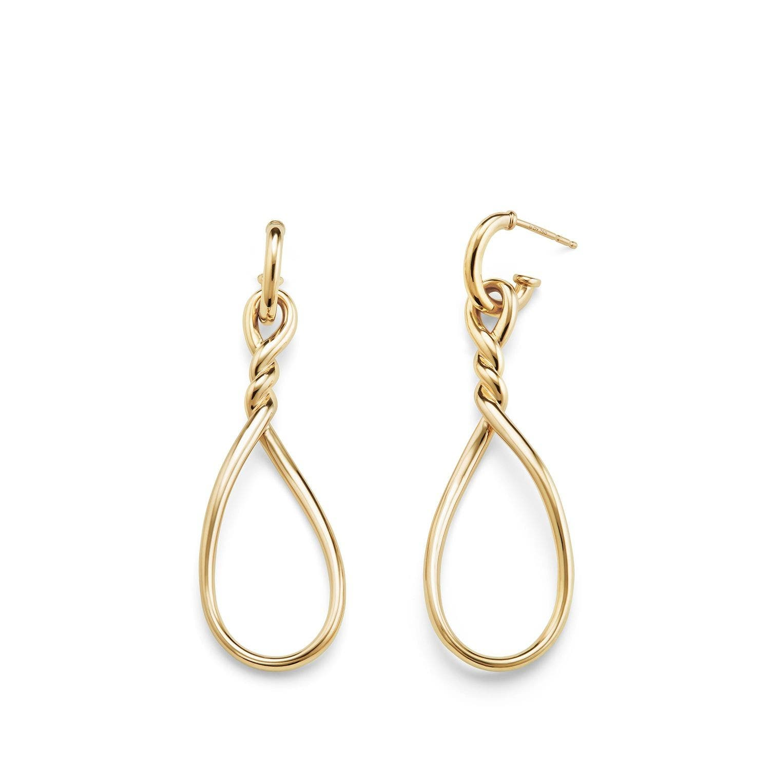Continuance Drop Earrings,                             Alternate thumbnail 2, color,                             Yellow Gold