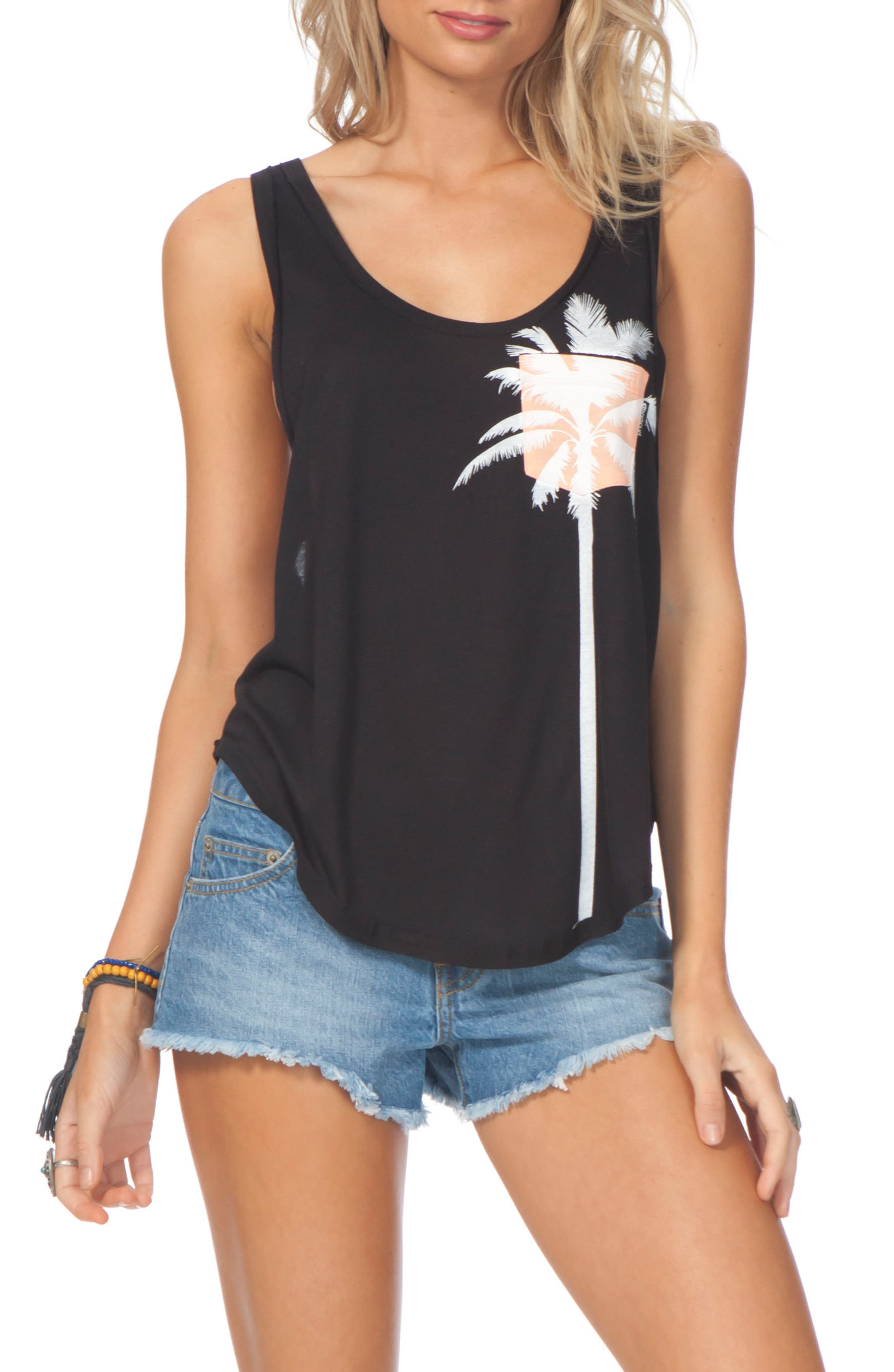 Alternate Image 1 Selected - Rip Curl Palm Pocket Tank