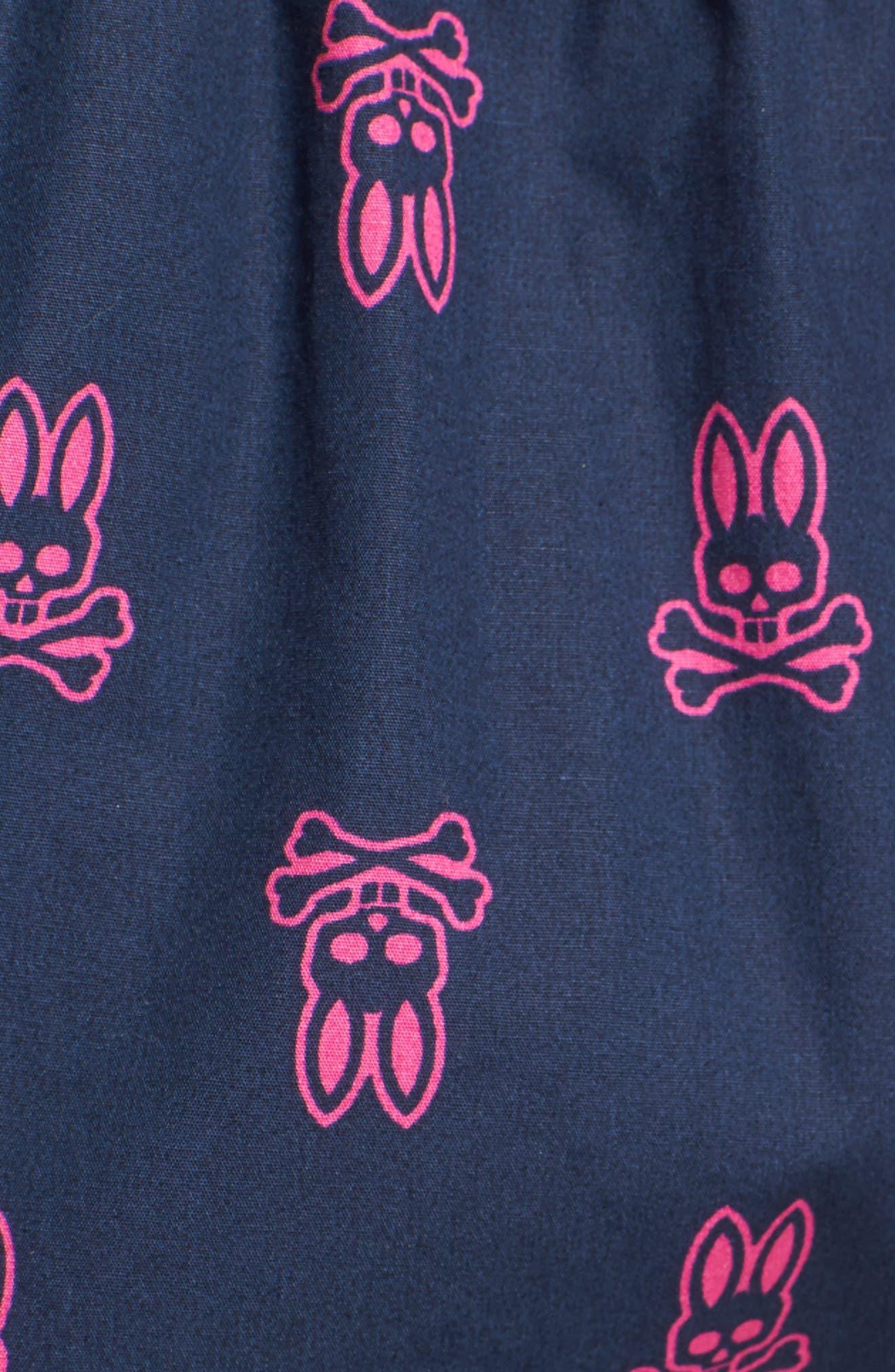 Cotton Lounge Shorts,                             Alternate thumbnail 5, color,                             Peacoat Bunny