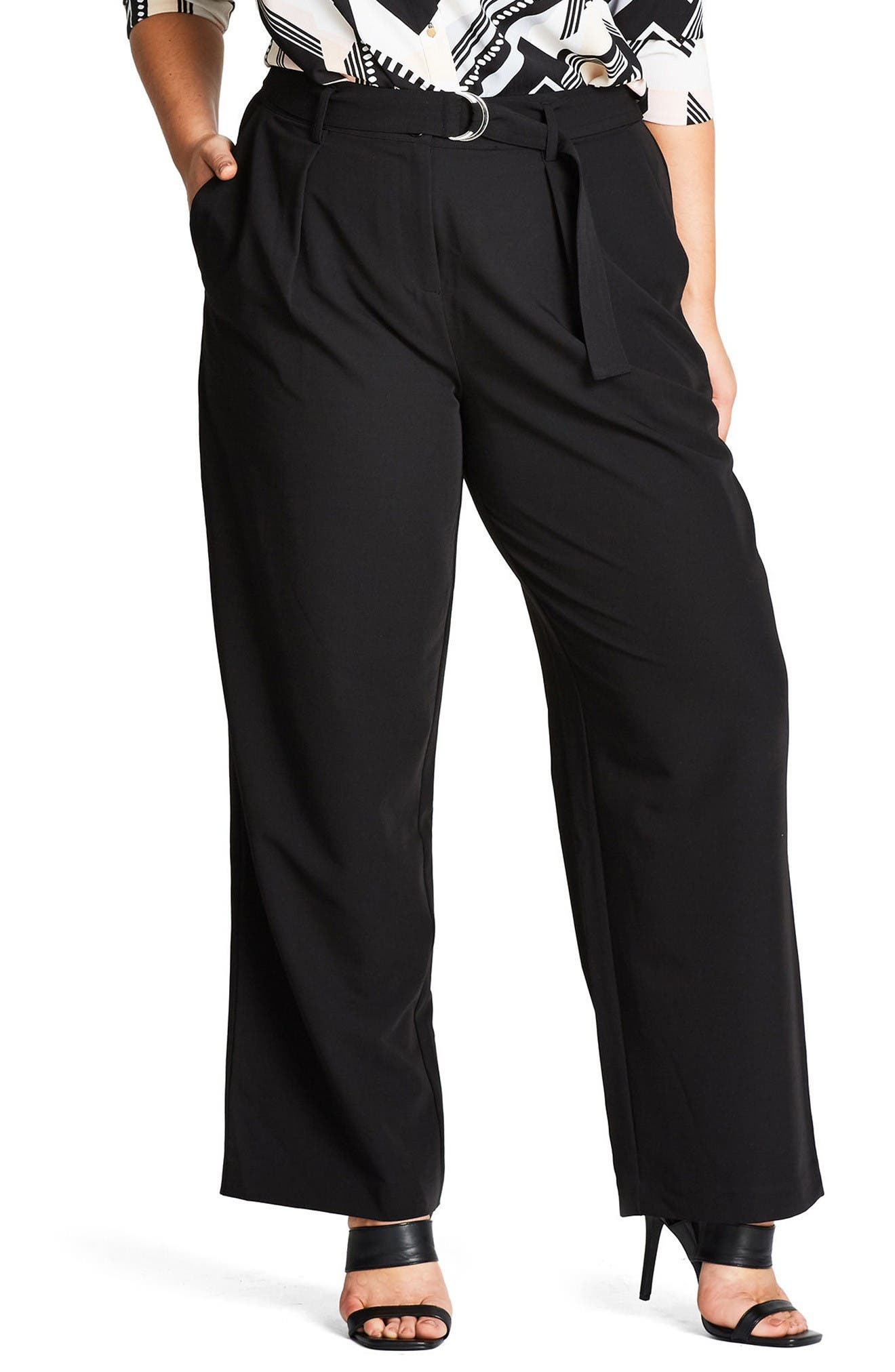 Alternate Image 1 Selected - City Chic Karate Tie Pants (Plus Size)