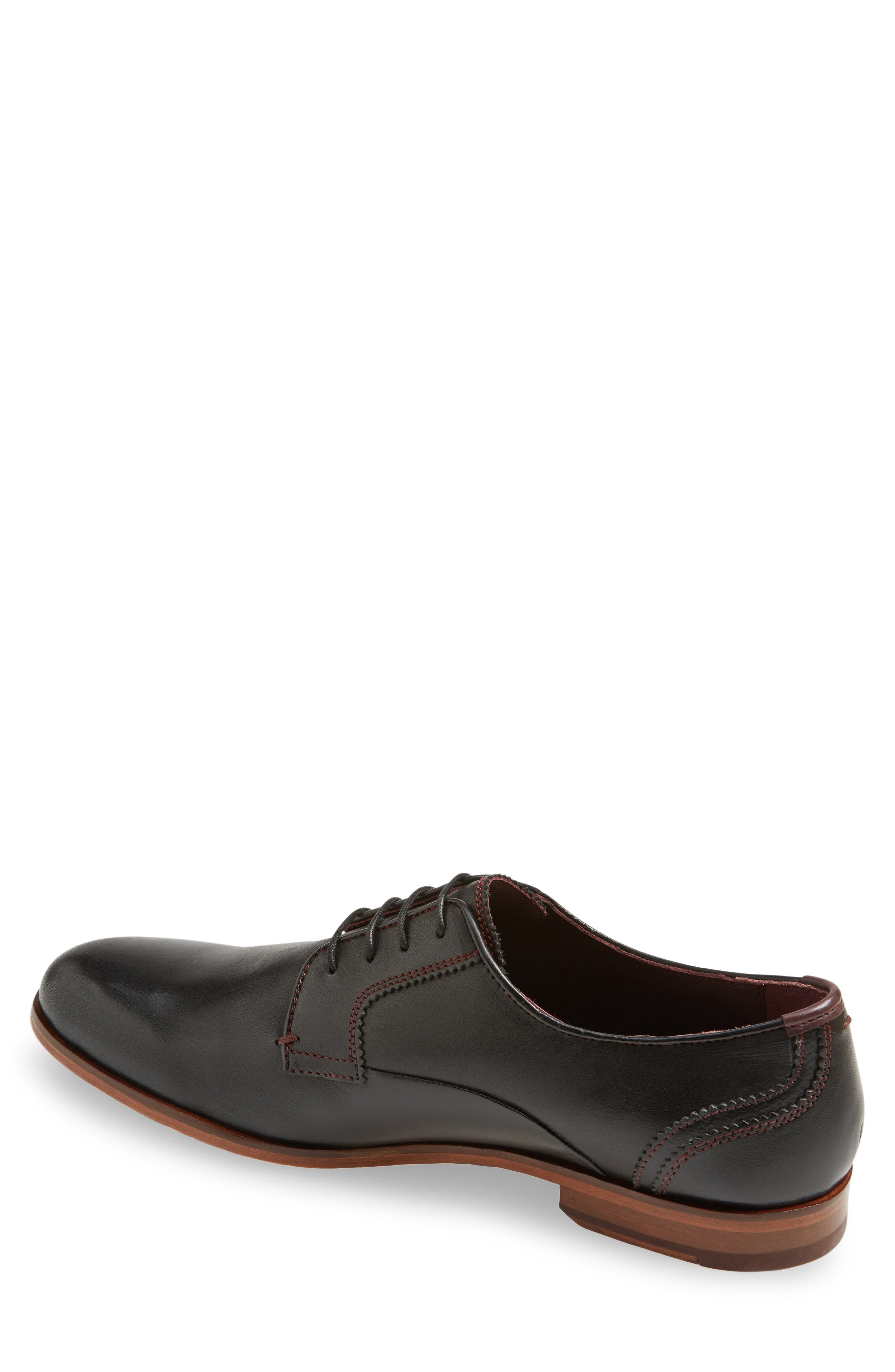 Iront Plain Toe Derby,                             Alternate thumbnail 2, color,                             Black Leather
