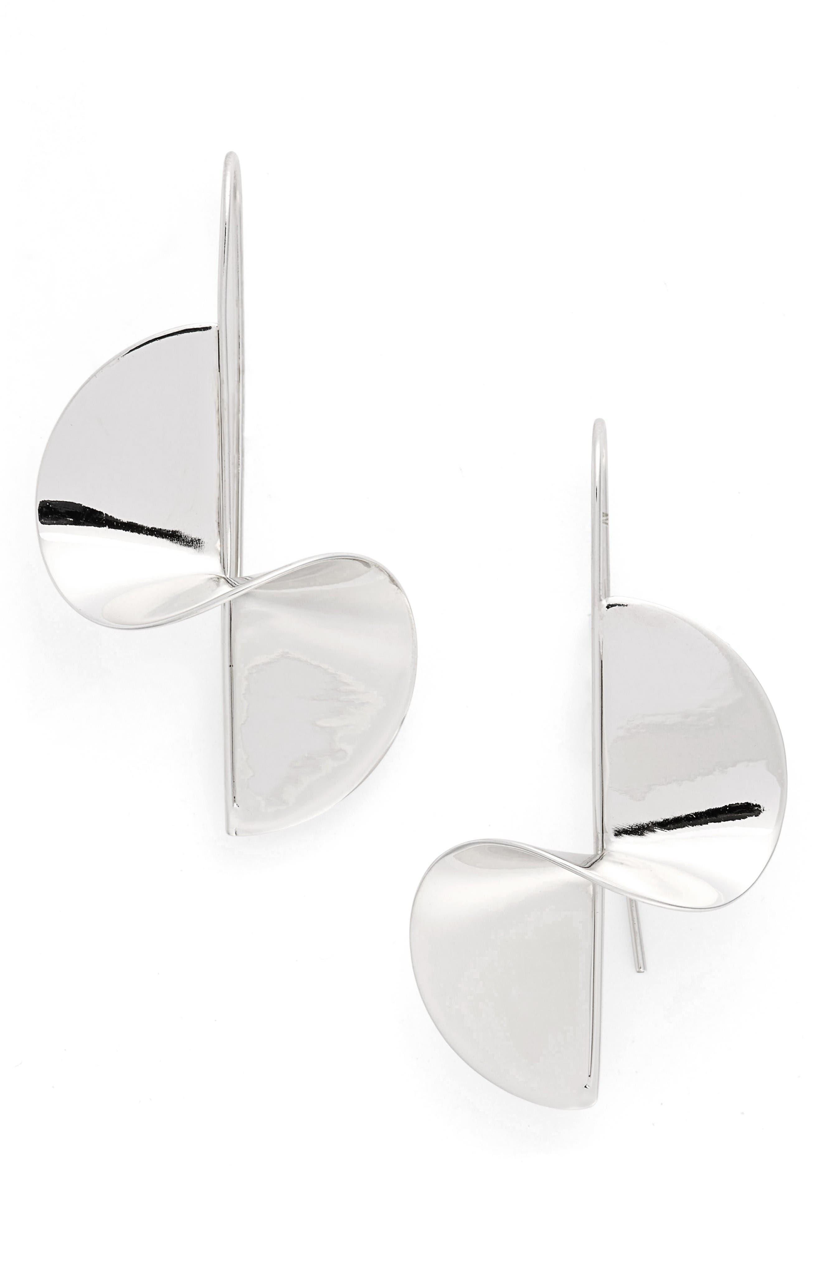 Spiral Threader Earrings,                             Alternate thumbnail 3, color,                             Silver
