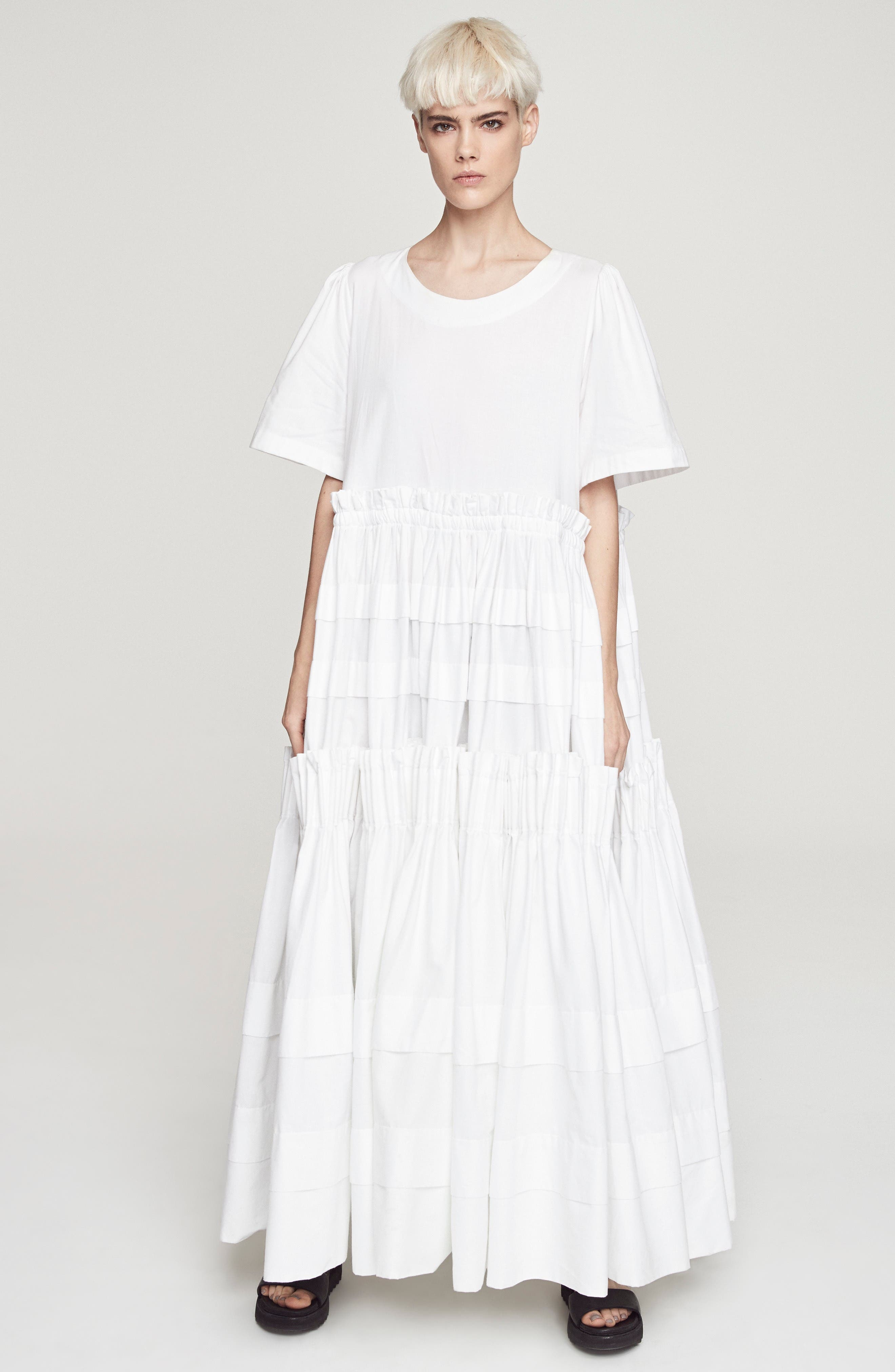 Mathilda Maxi Dress,                             Alternate thumbnail 9, color,                             White