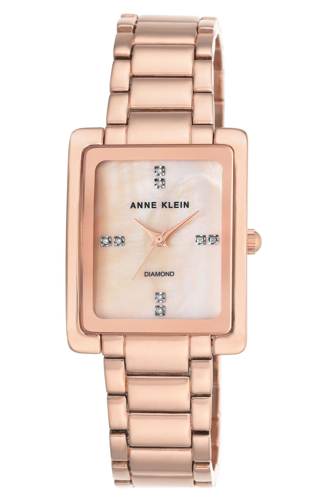 Main Image - Anne Klein Diamond Bracelet Watch, 28mm x 35mm