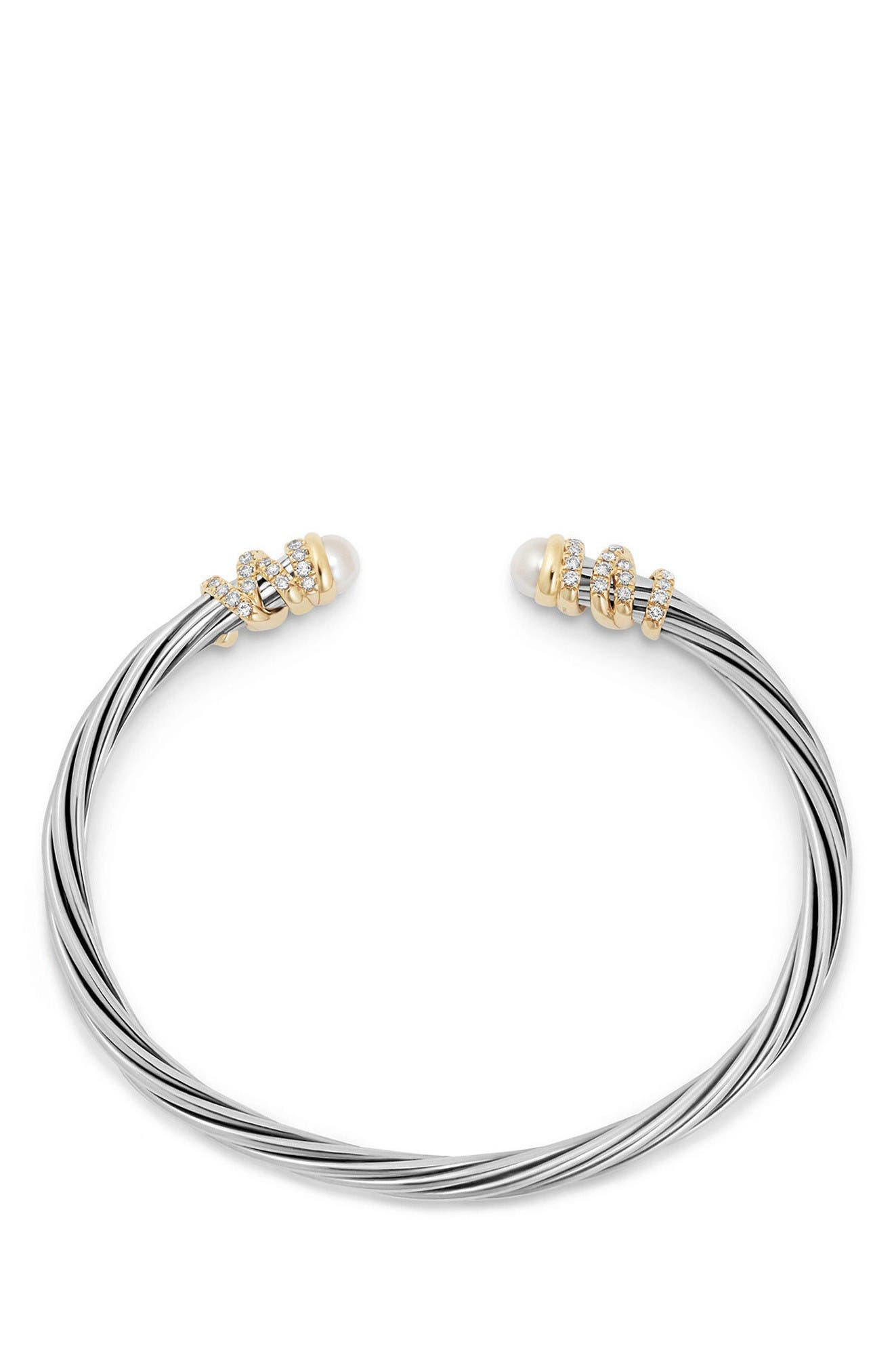 Alternate Image 2  - David Yurman Helena End Station Bracelet with Pearls & Diamonds, 4mm
