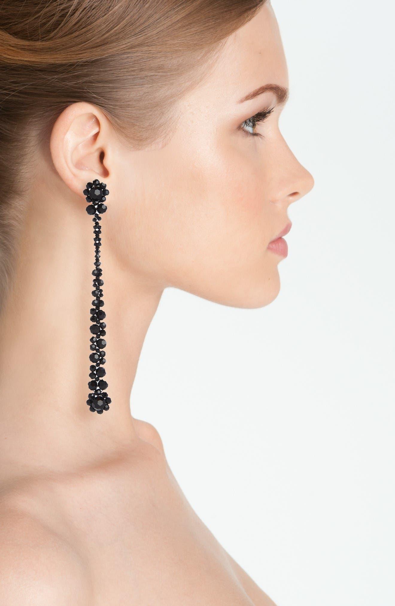 Alternate Image 2  - Simone Rocha Flower Beaded Drop Earring