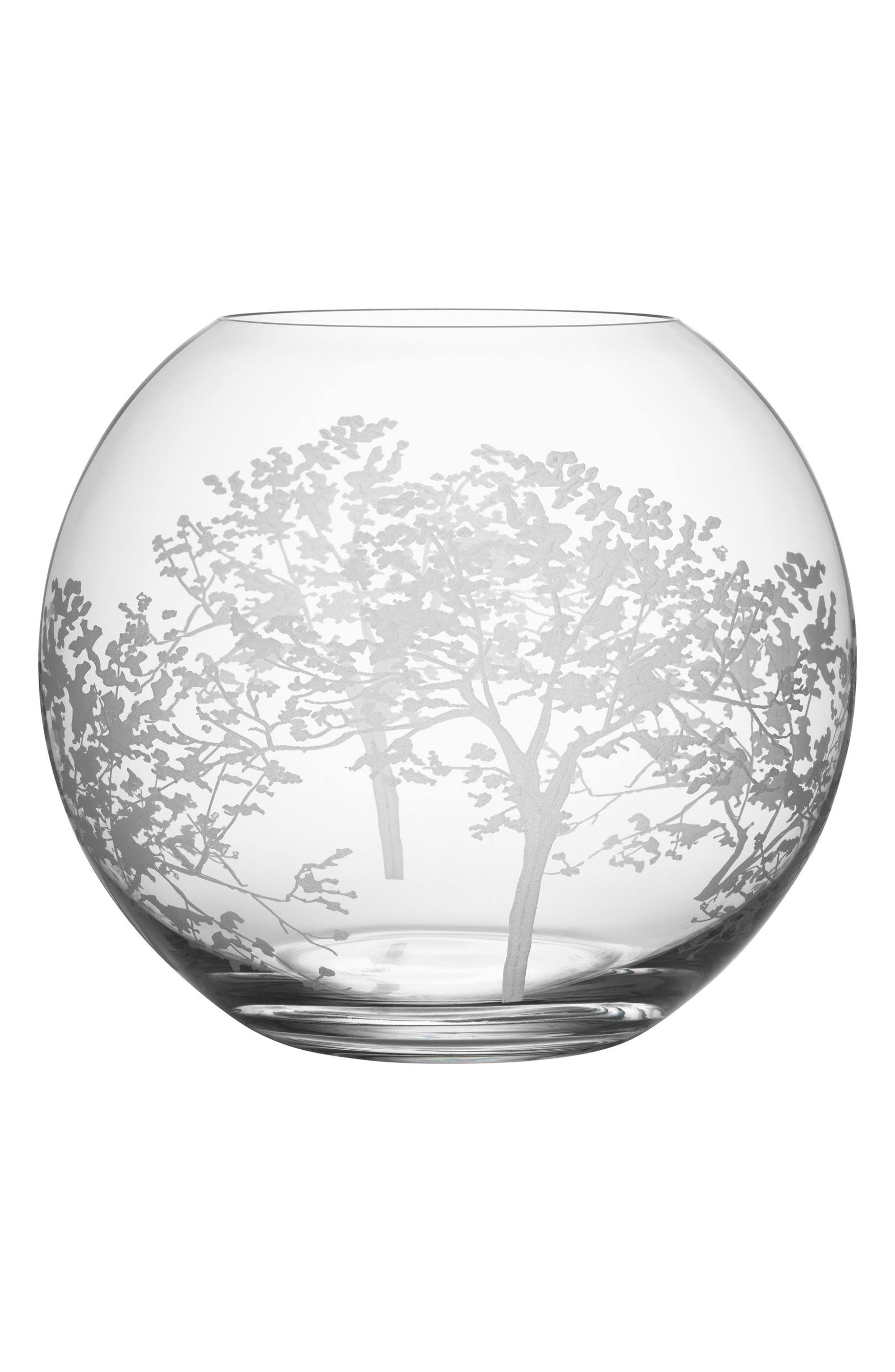 Organic Round Vase,                         Main,                         color, Clear