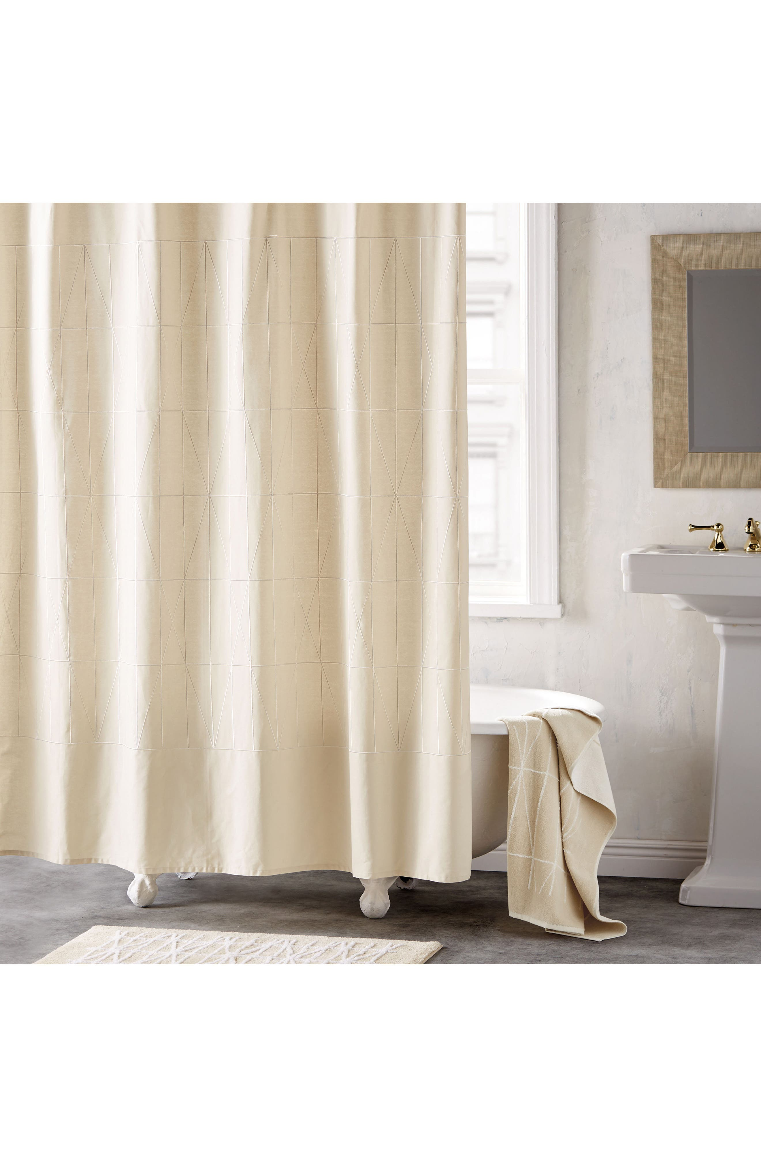 DKNY Geometrix Shower Curtain