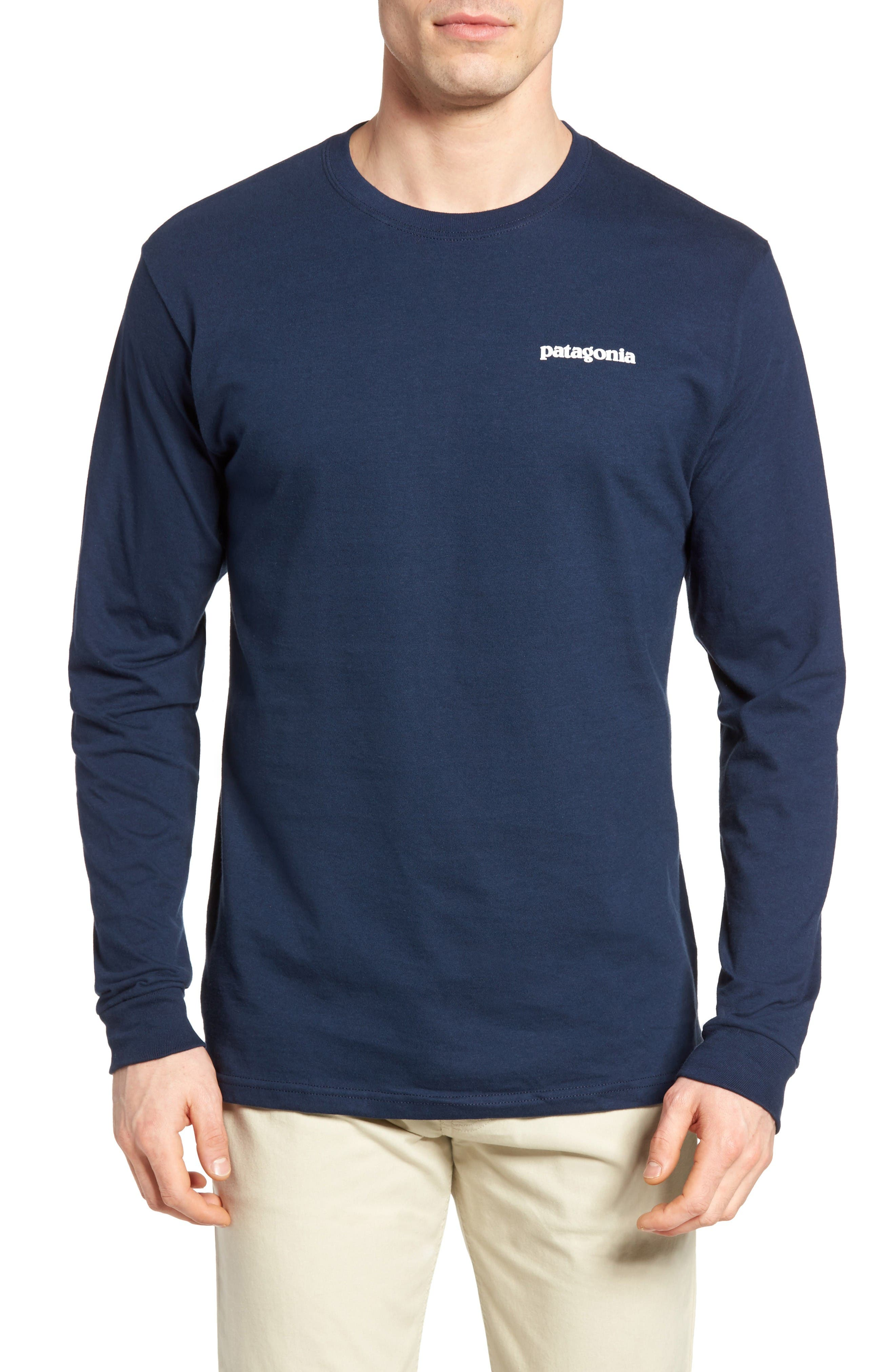 P-6 Logo Organic Cotton T-Shirt,                         Main,                         color, Blue