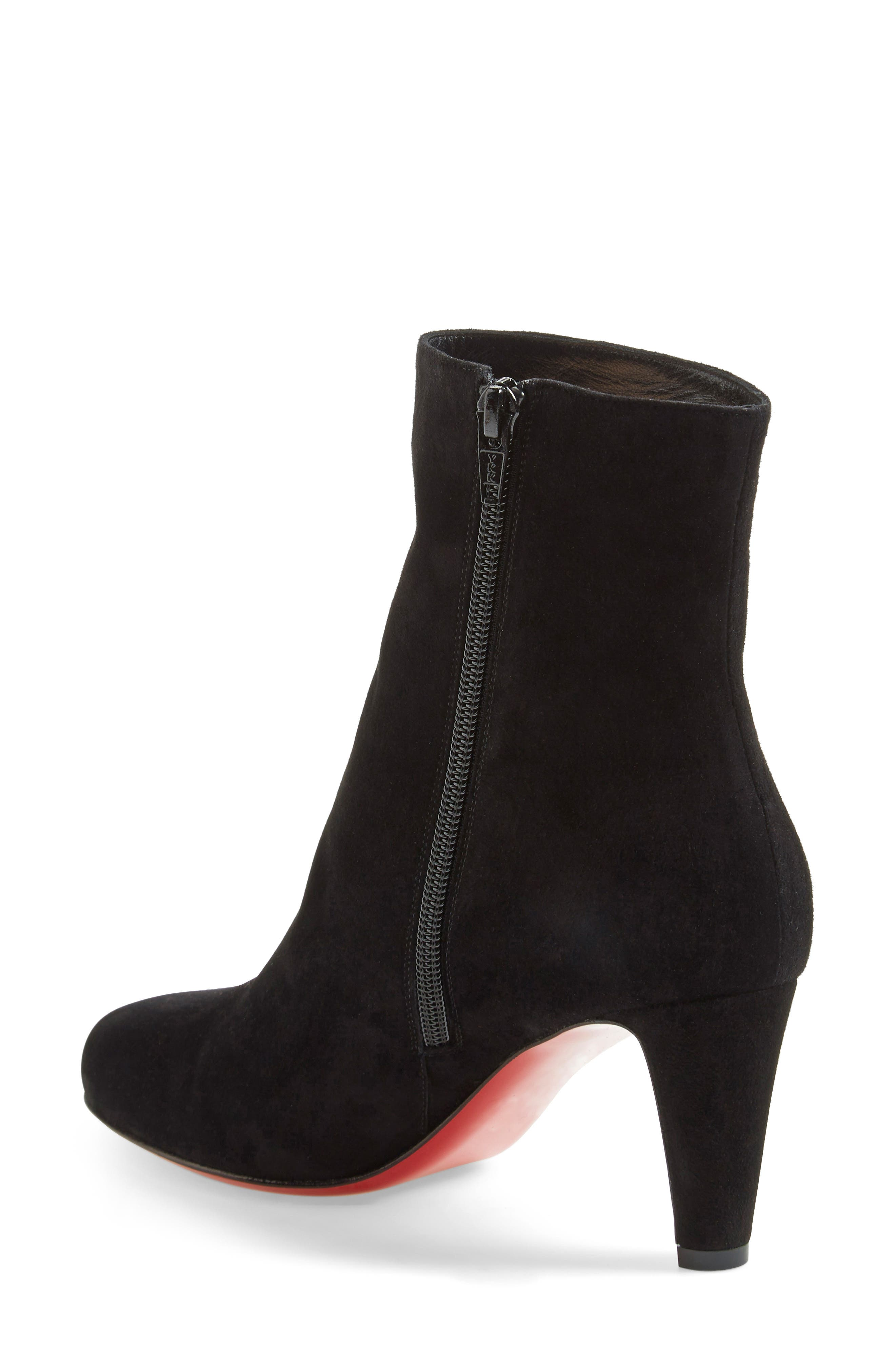 'Top' Ankle Bootie,                             Alternate thumbnail 2, color,                             Black Suede