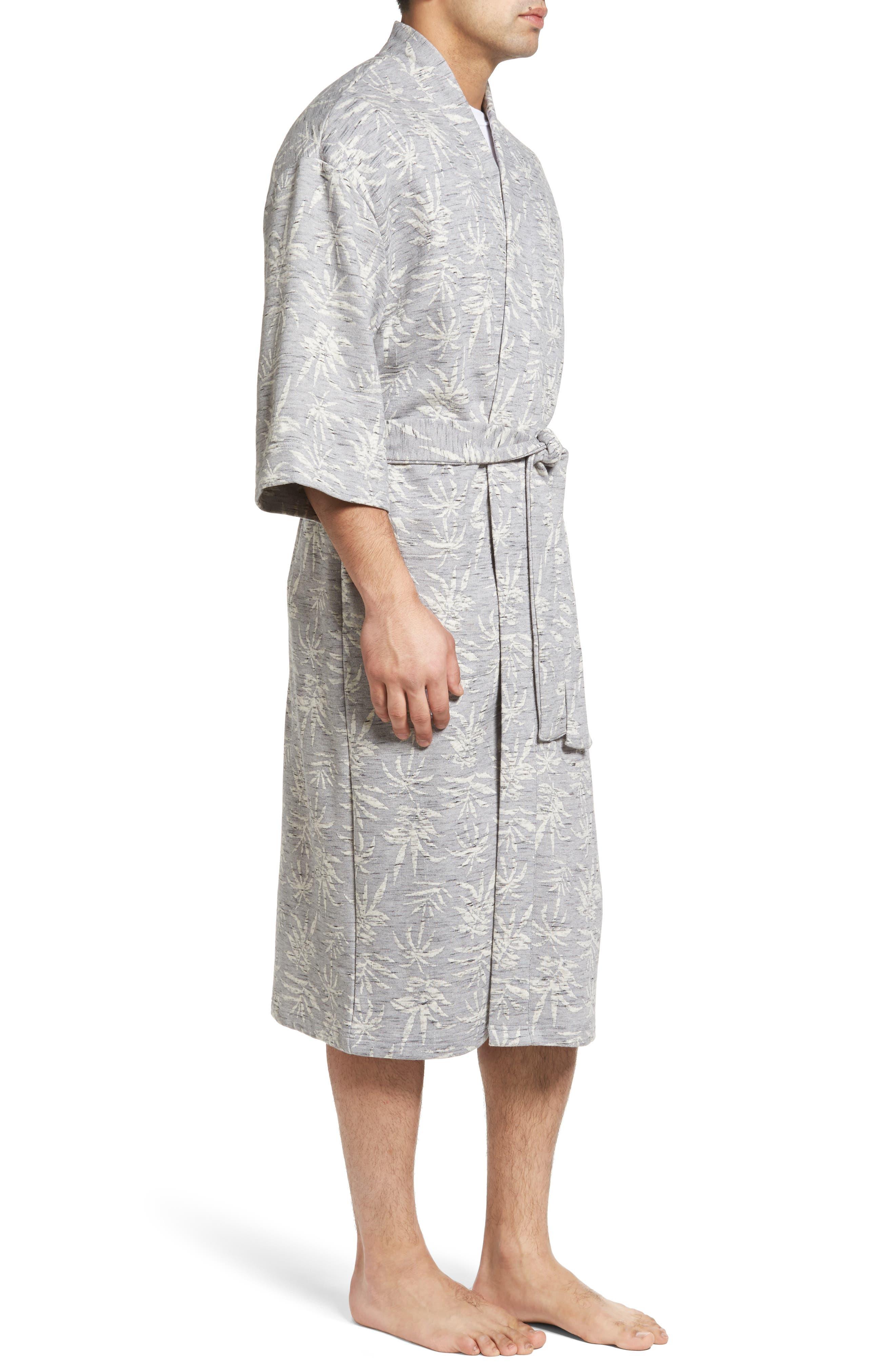 Vintage Tropical Robe,                             Alternate thumbnail 3, color,                             Grey