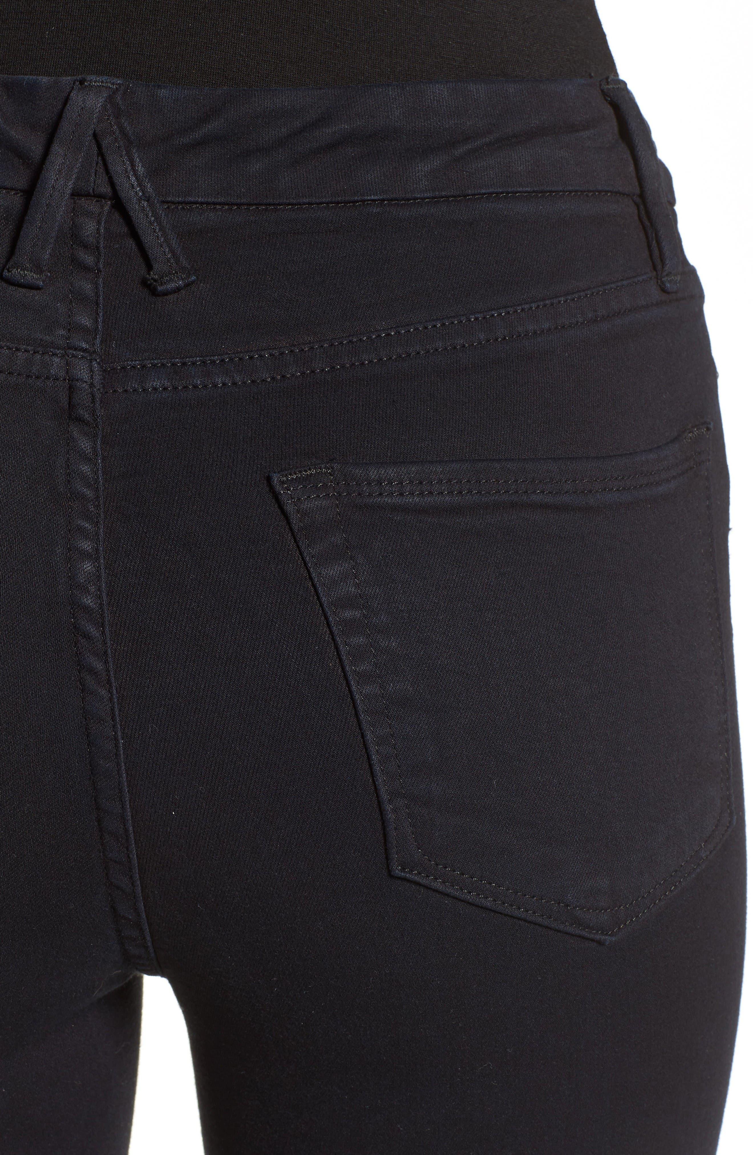 Alternate Image 4  - Good American Good Waist High Rise Skinny Jeans (Black 004)