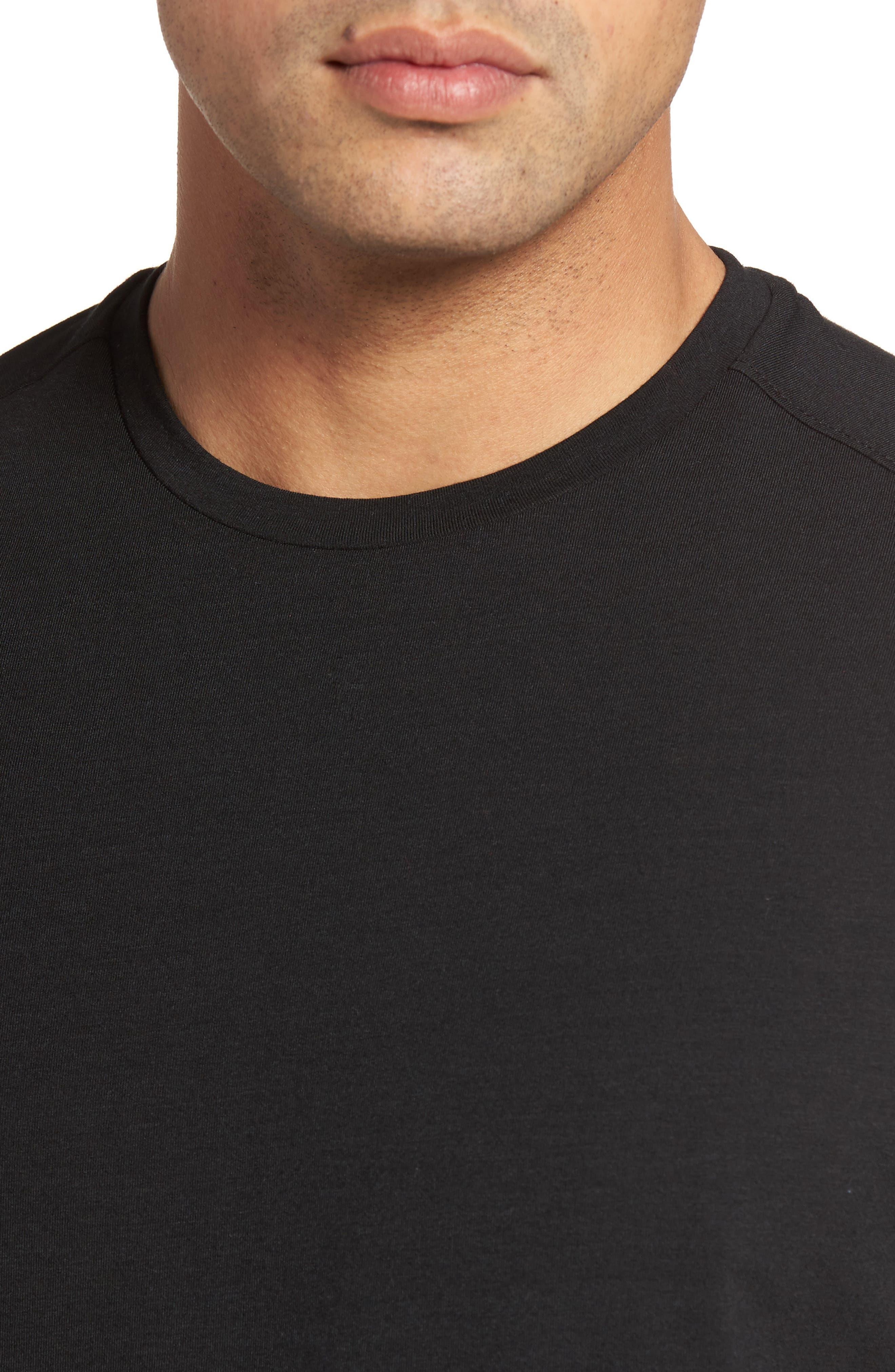 Tropicool T-Shirt,                             Alternate thumbnail 4, color,                             Black
