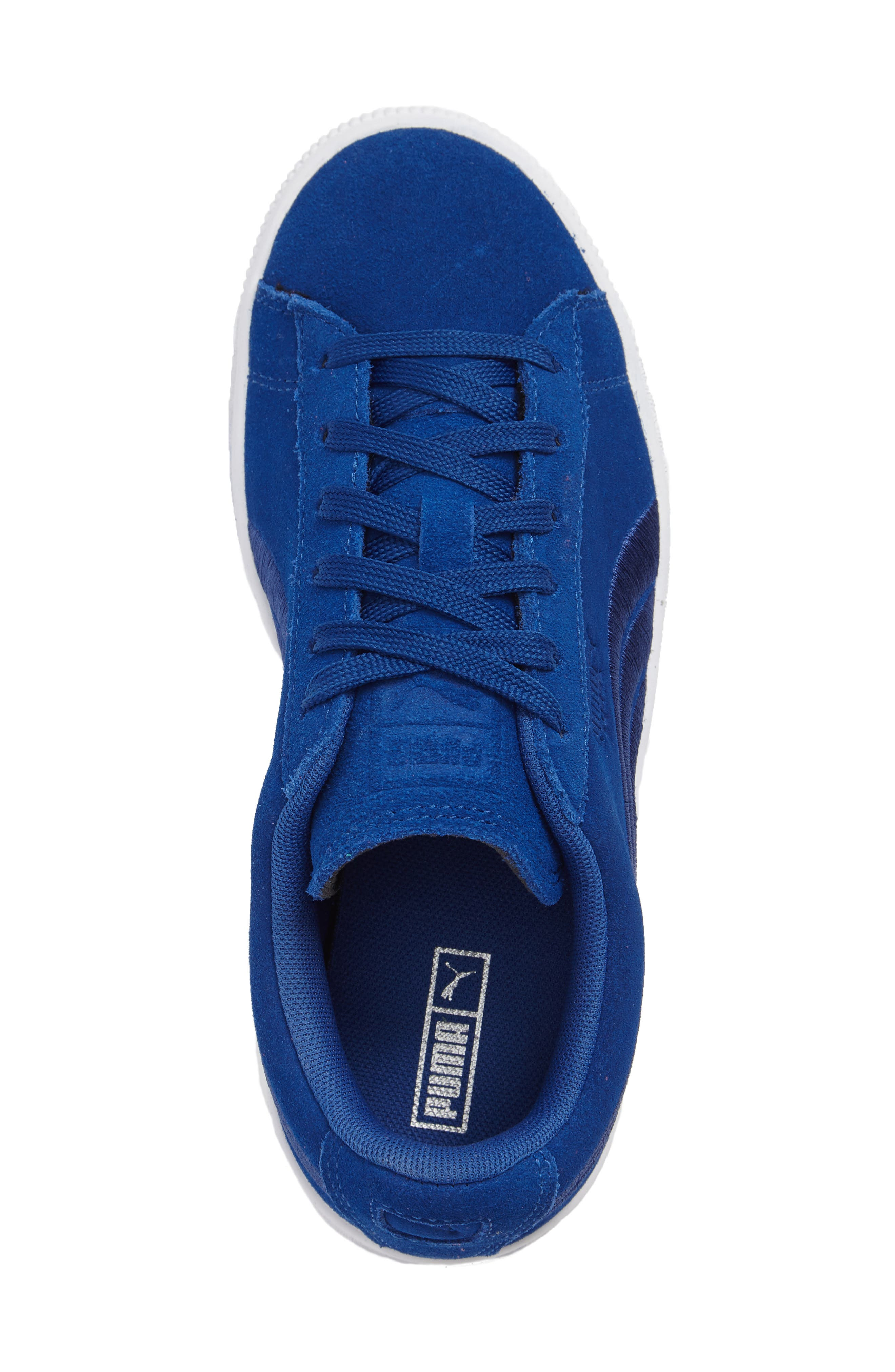 Classic Badge Sneaker,                             Alternate thumbnail 3, color,                             Blue