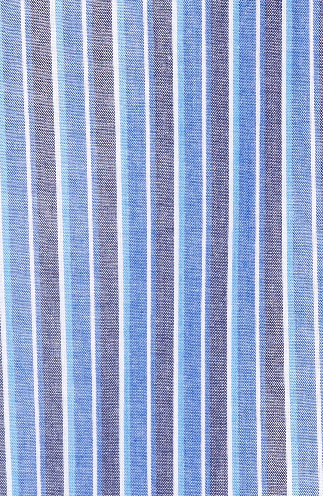 Cole Cotton Blend Pajama Set,                             Alternate thumbnail 5, color,                             Royal Stripe