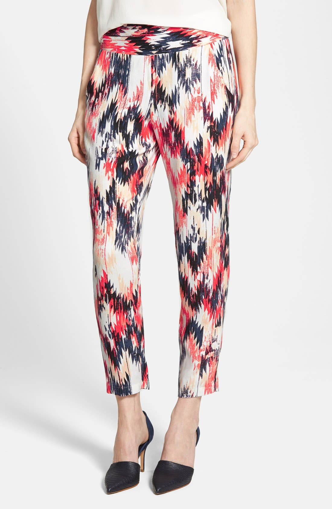 Alternate Image 1 Selected - Ella Moss 'Zia' Print Pants