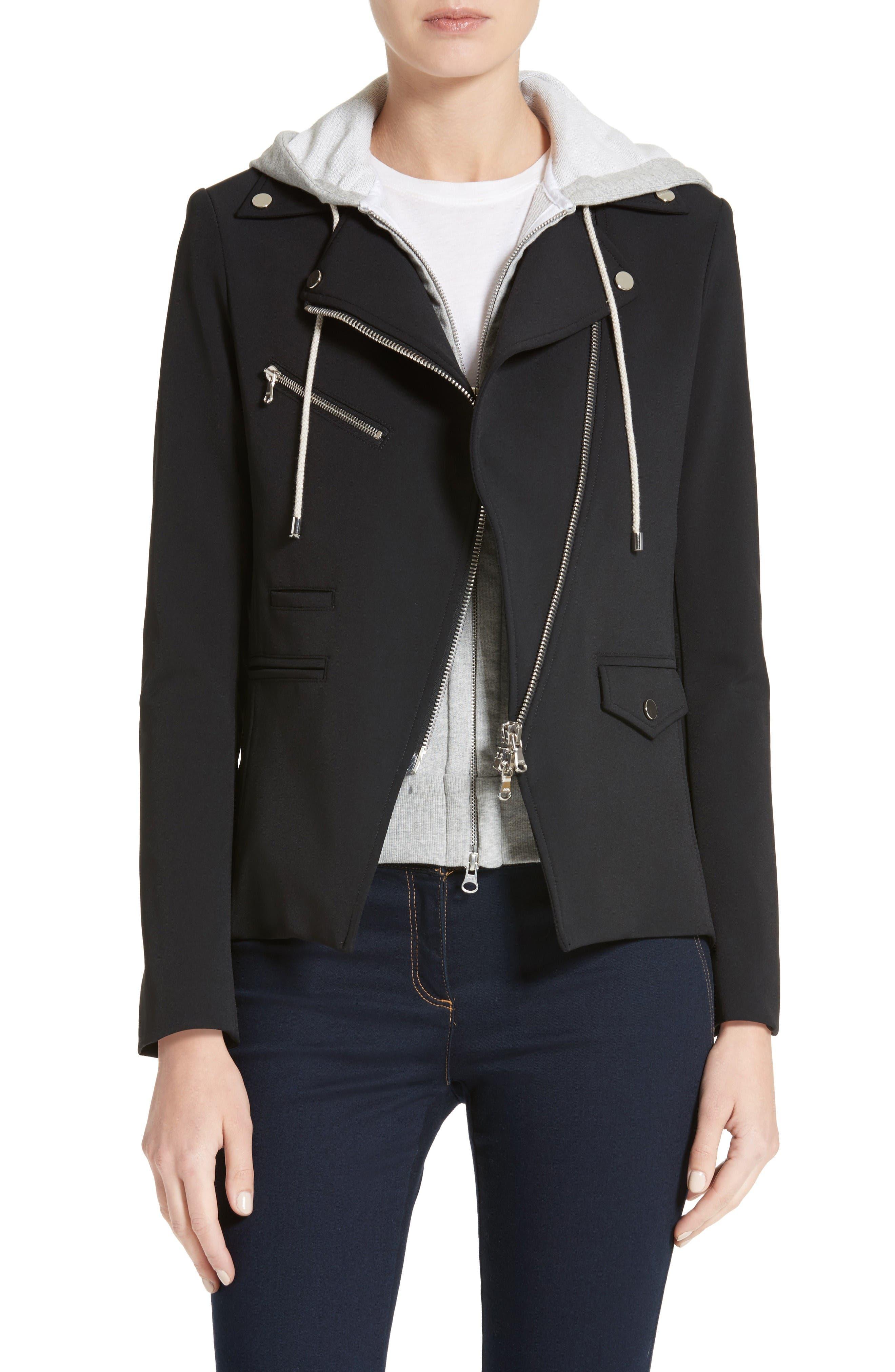 VERONICA BEARD Hadley Neoprene Moto Jacket