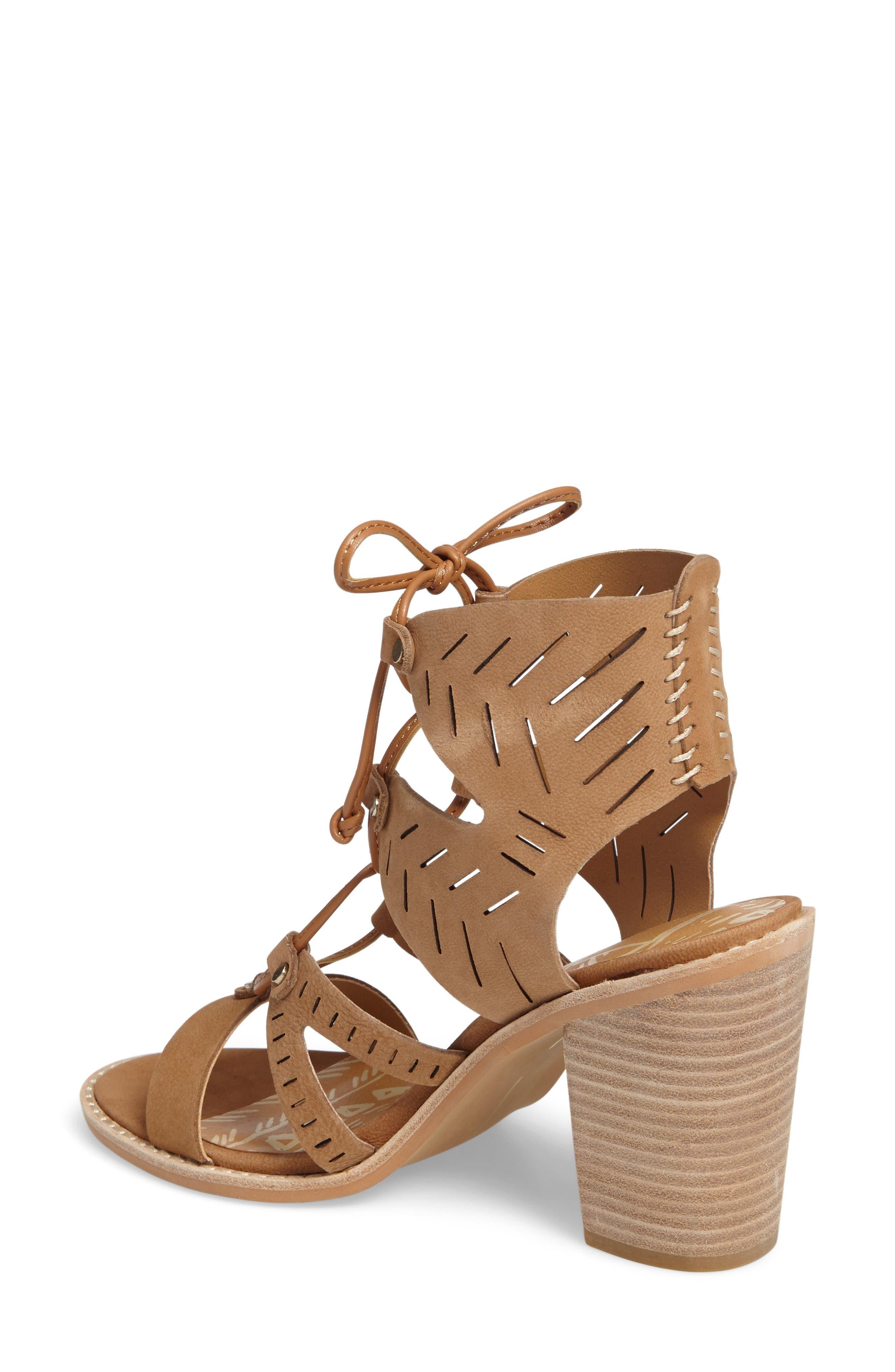 Luci Ghillie Lace Sandal,                             Alternate thumbnail 2, color,                             Saddle Nubuck Leather