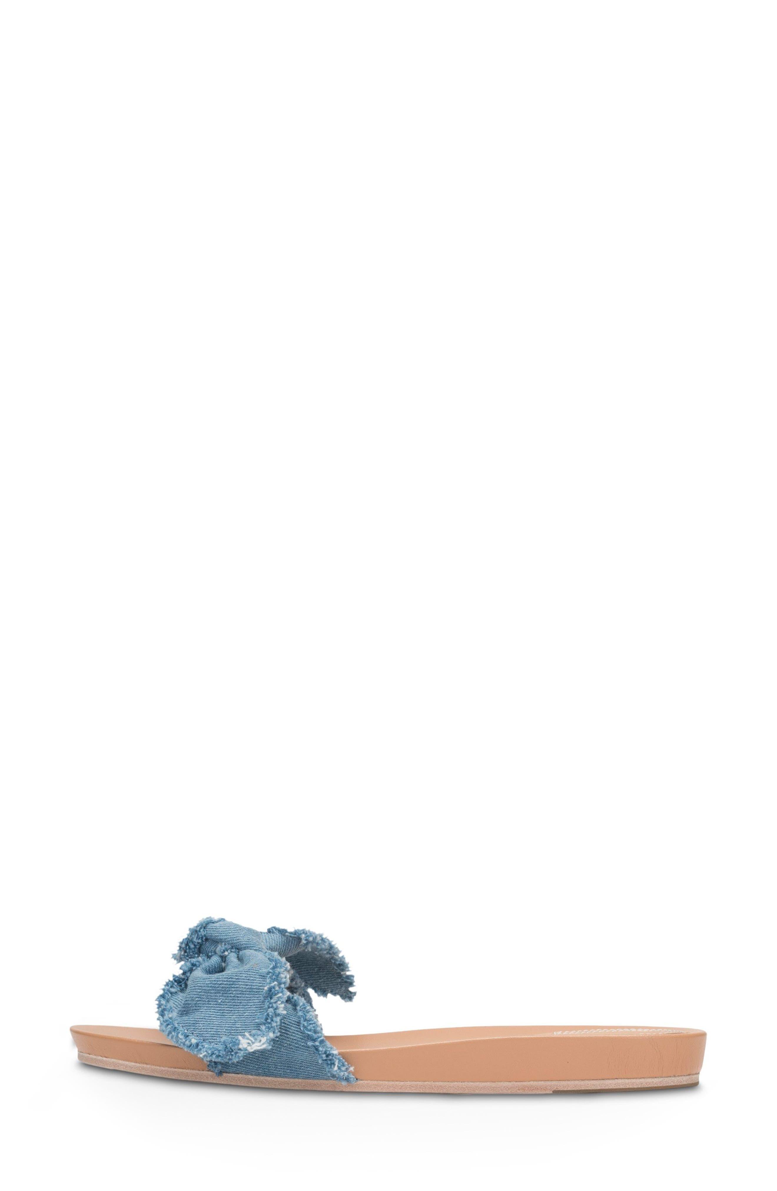 Carmen Slide Sandal,                             Alternate thumbnail 4, color,                             Blue Denim