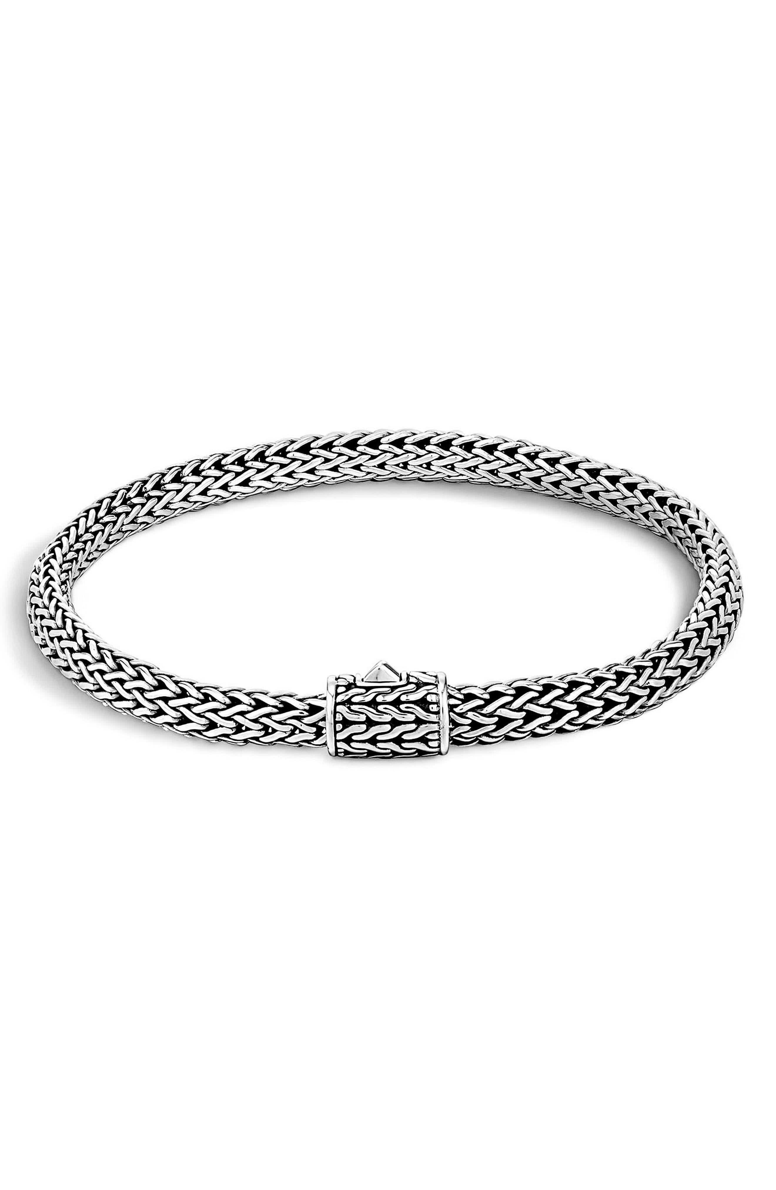Classic Chain Bracelet,                             Main thumbnail 1, color,                             Silver