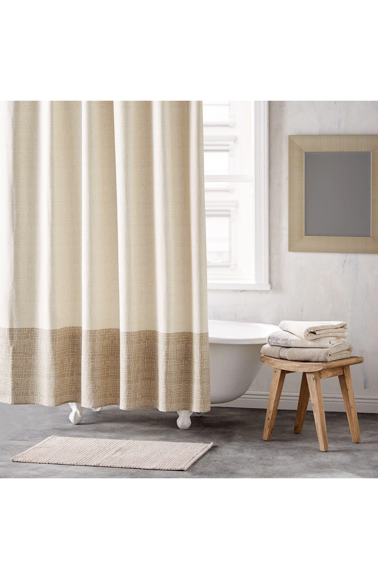Crossway Shower Curtain,                             Main thumbnail 1, color,                             Sandstone