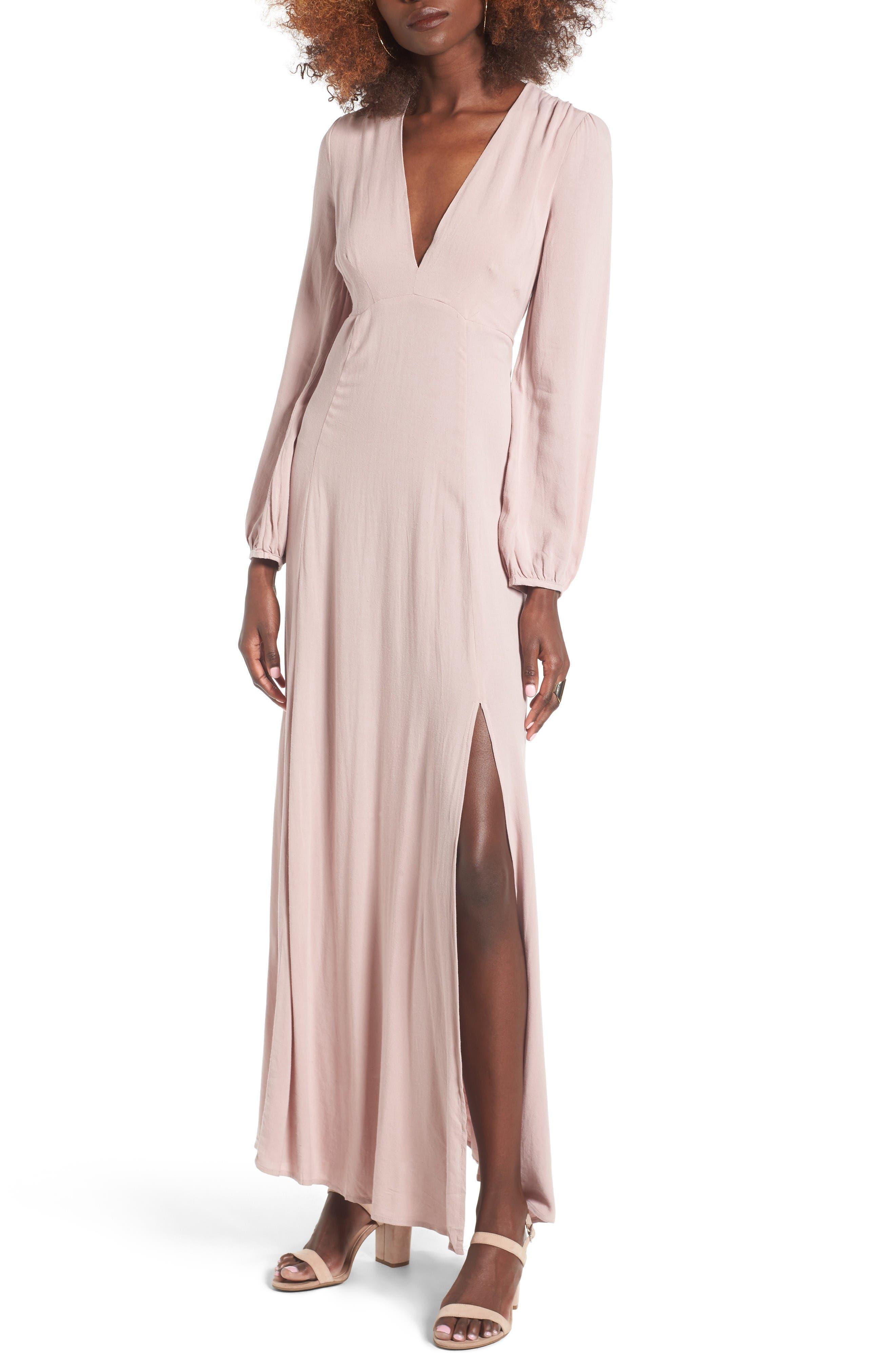 Main Image - Lush Open Back Woven Maxi Dress