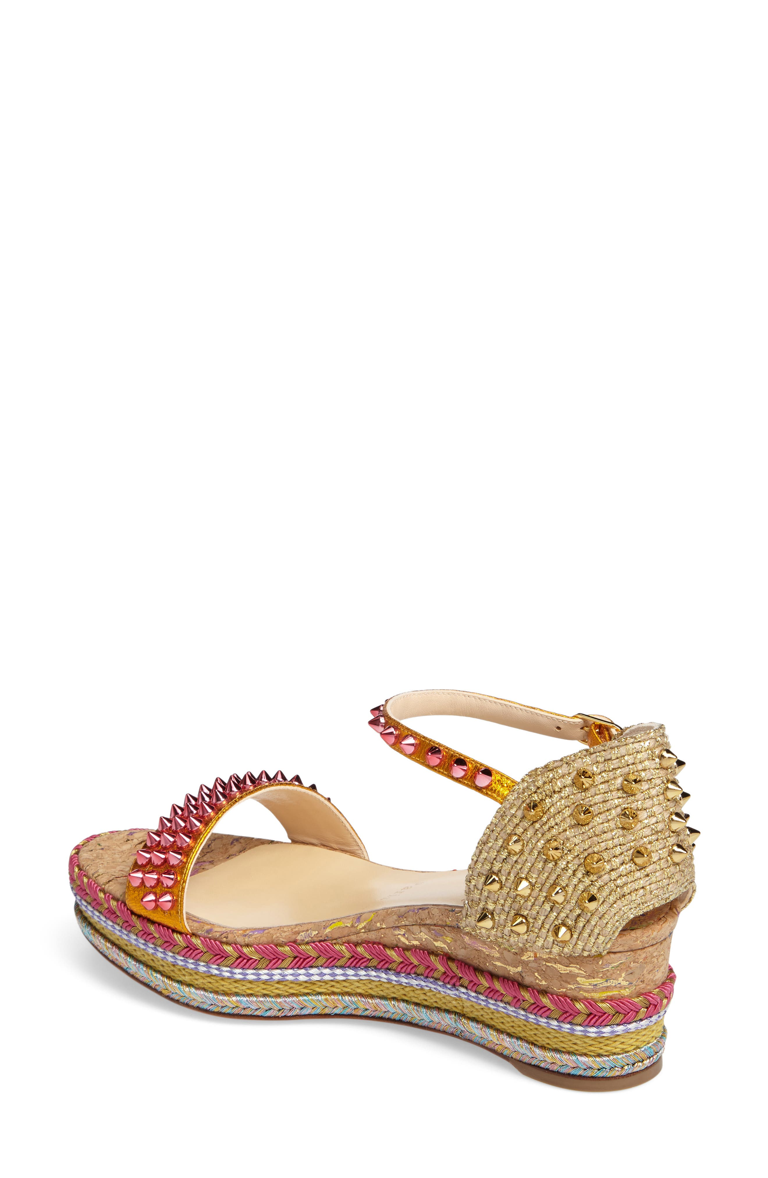 Madmonica Espadrille Platform Sandal,                             Alternate thumbnail 2, color,                             Orange Multi Leather
