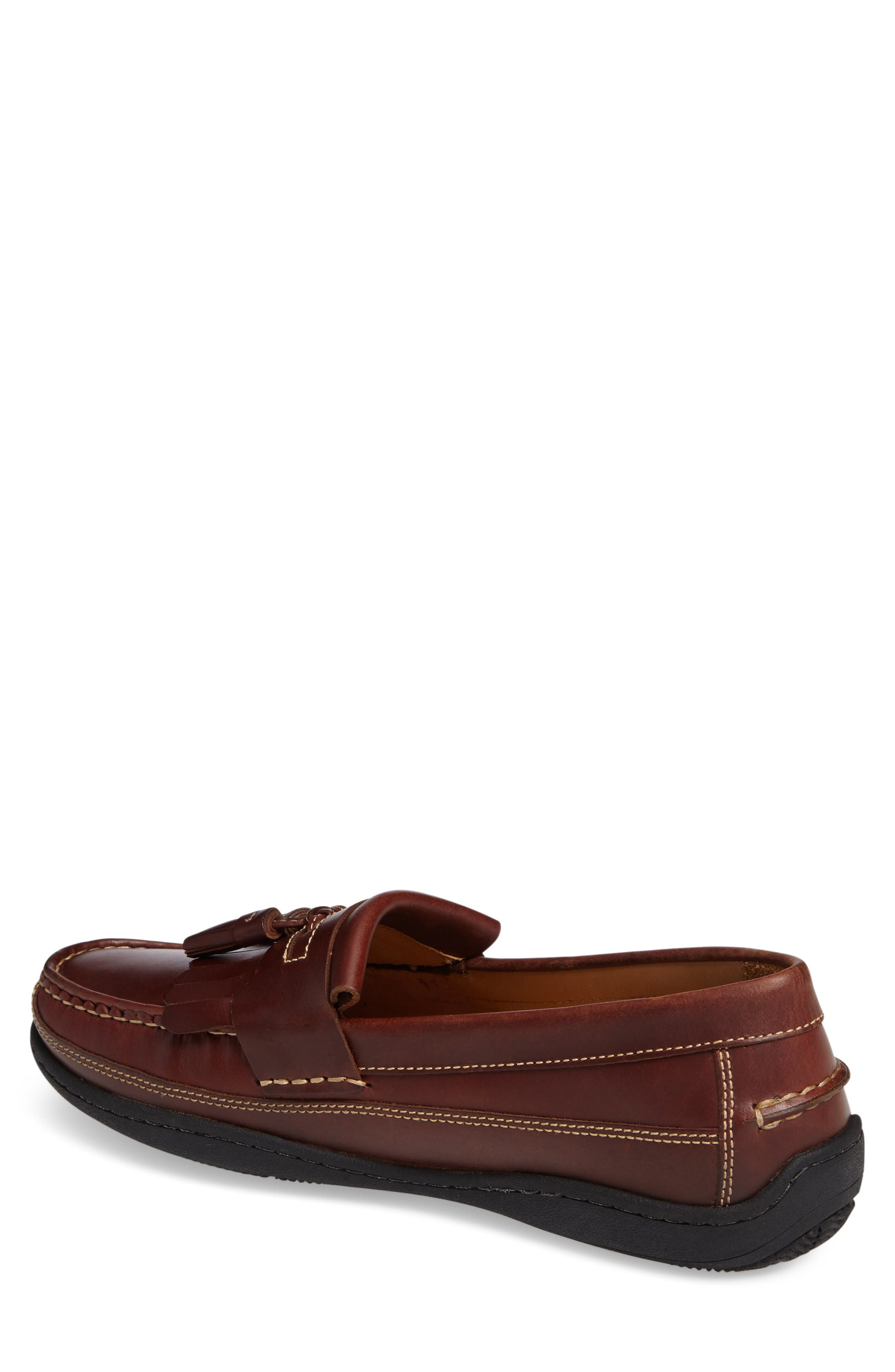 Fowler Kiltie Tassel Loafer,                             Alternate thumbnail 2, color,                             Mahogany Leather