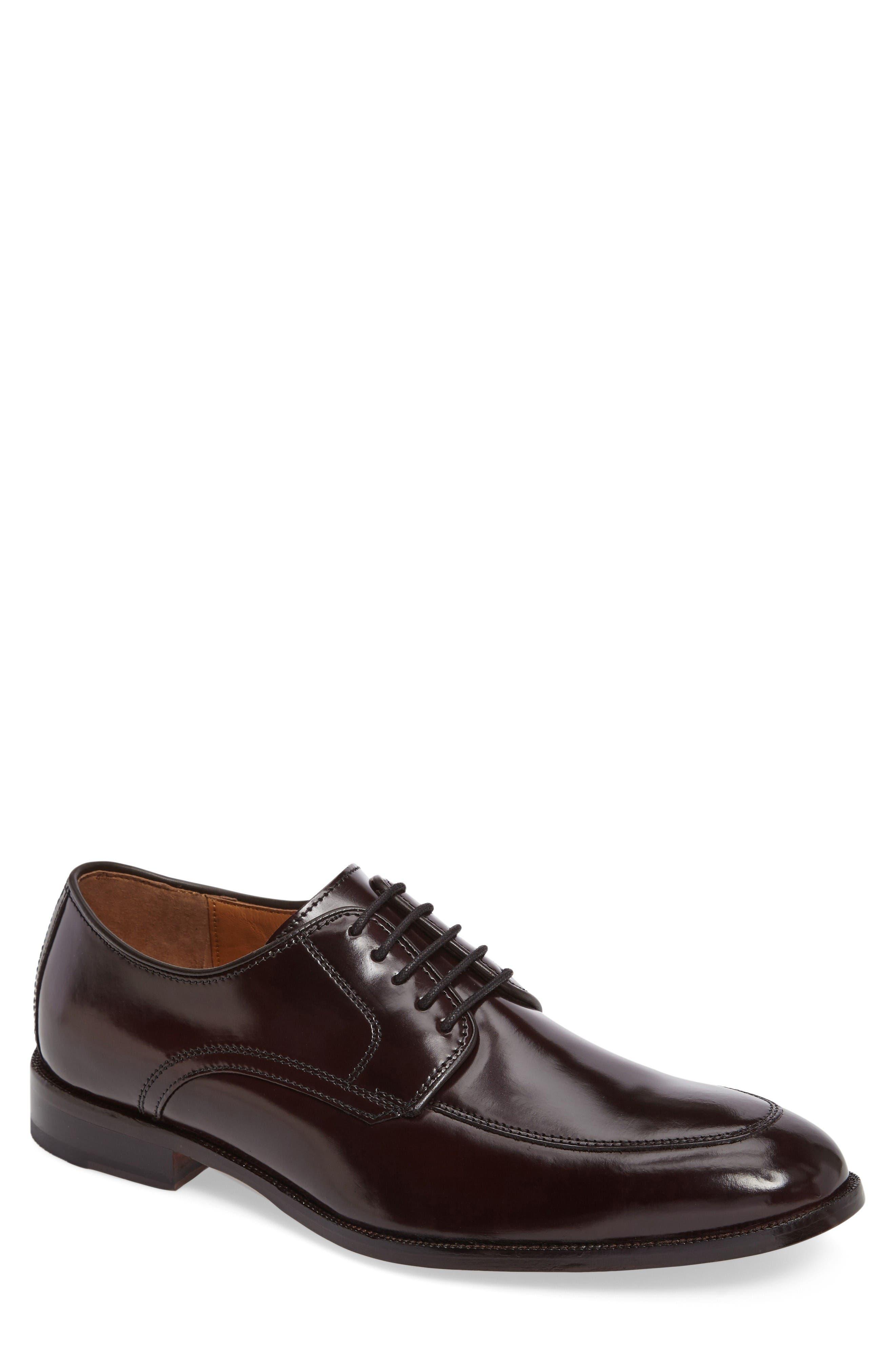 Bradford Apron-Toe Oxford,                             Alternate thumbnail 3, color,                             Burgundy Leather