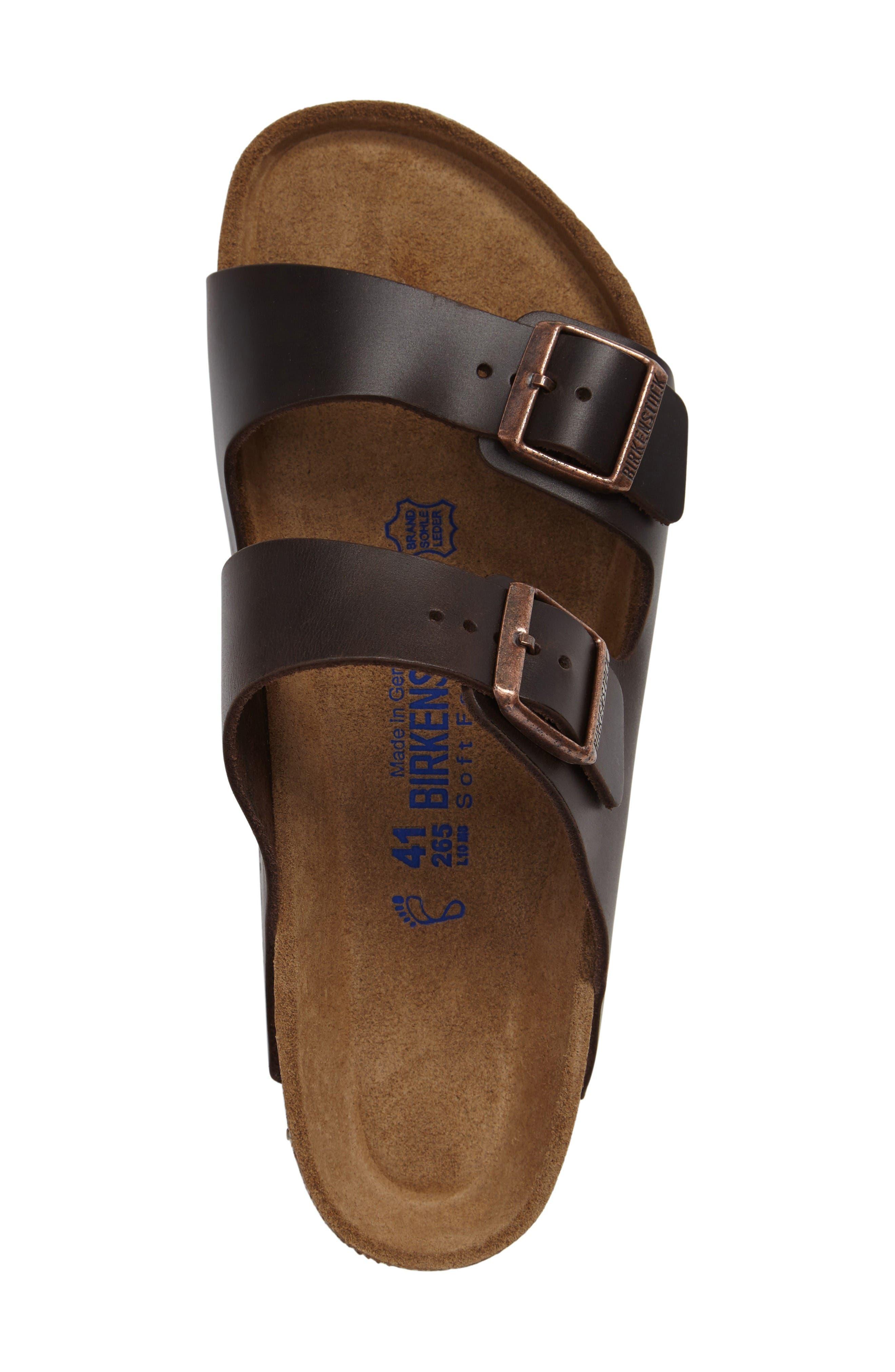 'Arizona Soft' Sandal,                             Alternate thumbnail 4, color,                             Brown