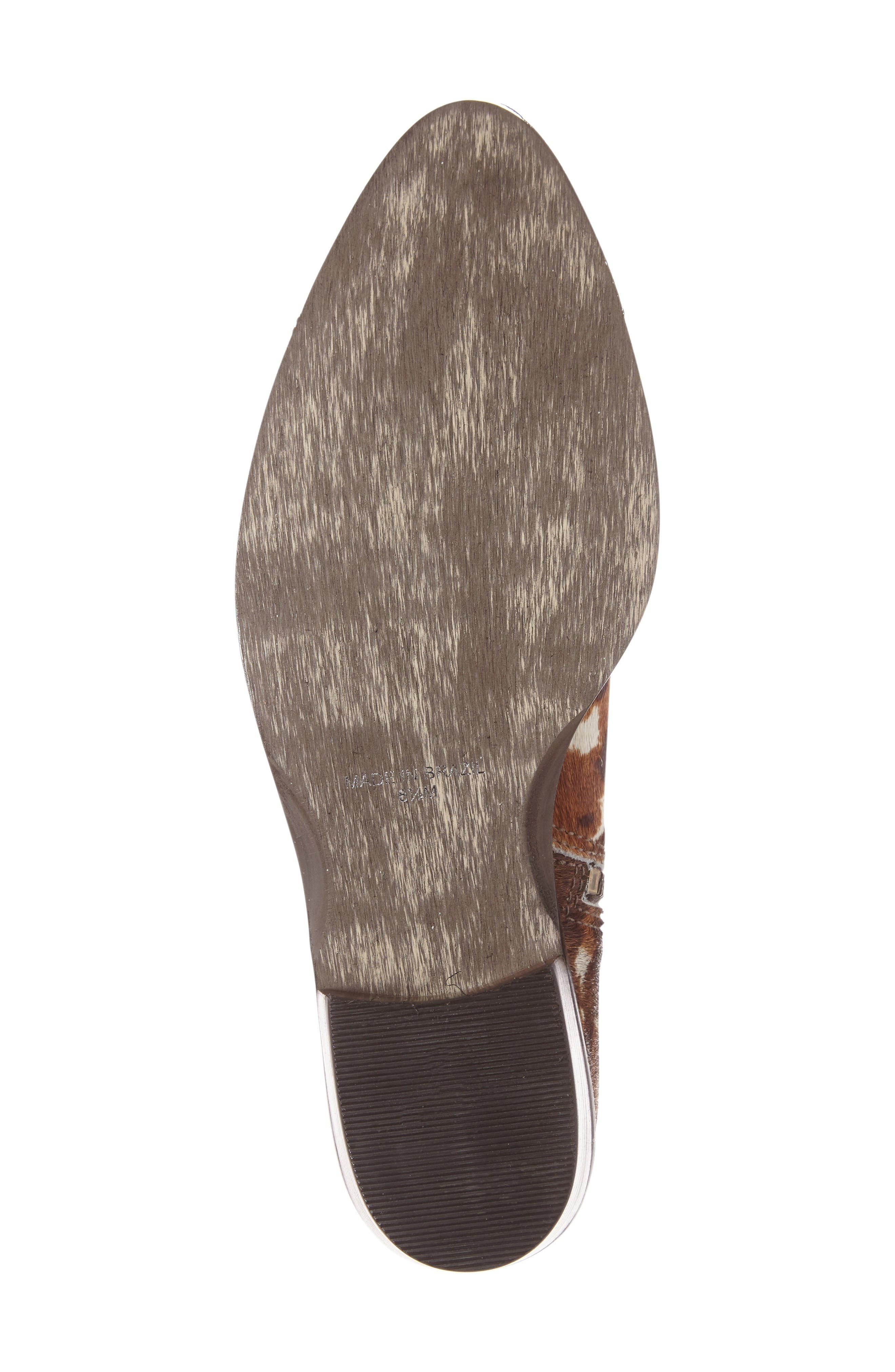 Orlin Genuine Calf Hair Bootie,                             Alternate thumbnail 4, color,                             Multi Spots Calf Hair