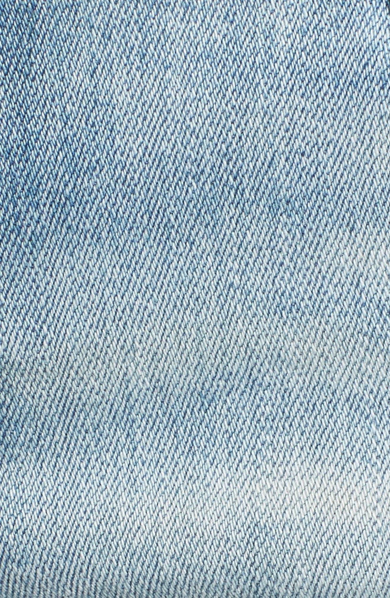 Joey Cutoff Denim Shorts,                             Alternate thumbnail 5, color,                             Cloud Nine