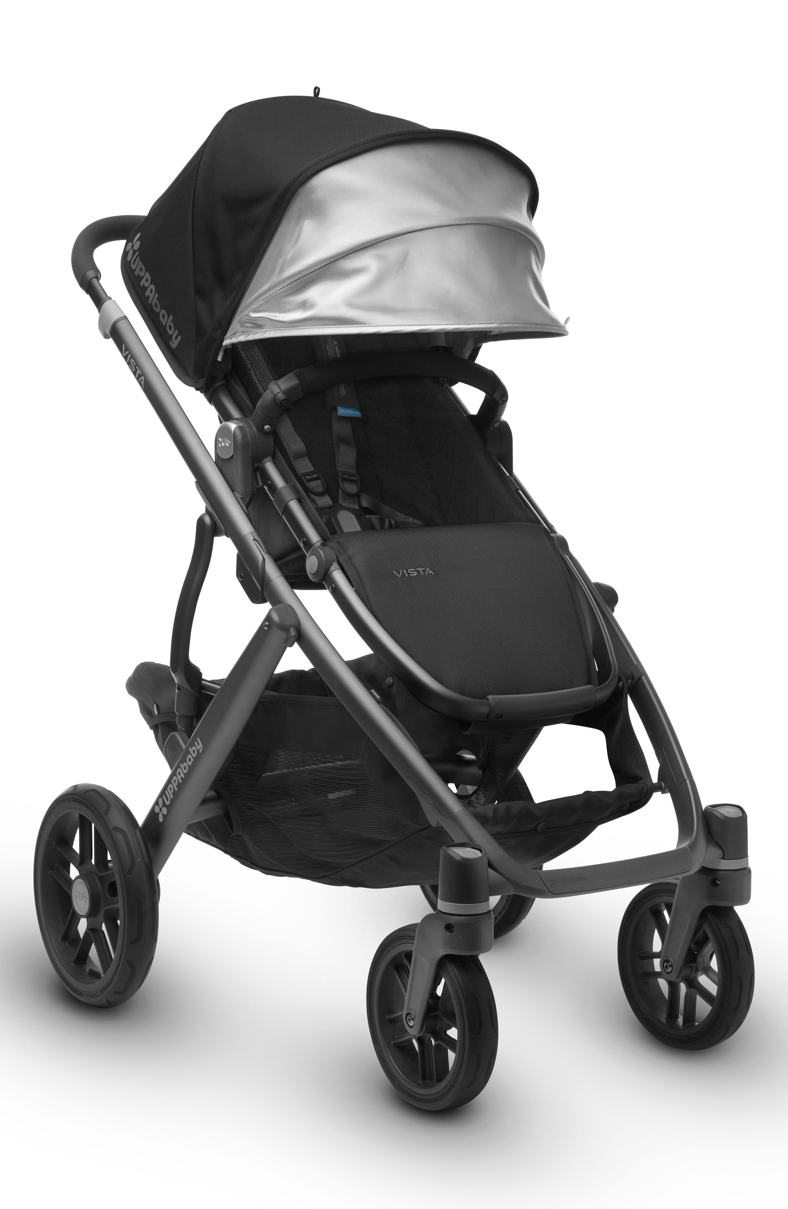 Alternate Image 4  - UPPAbaby 2017 VISTA Aluminum Frame Convertible Stroller with Bassinet & Toddler Seat