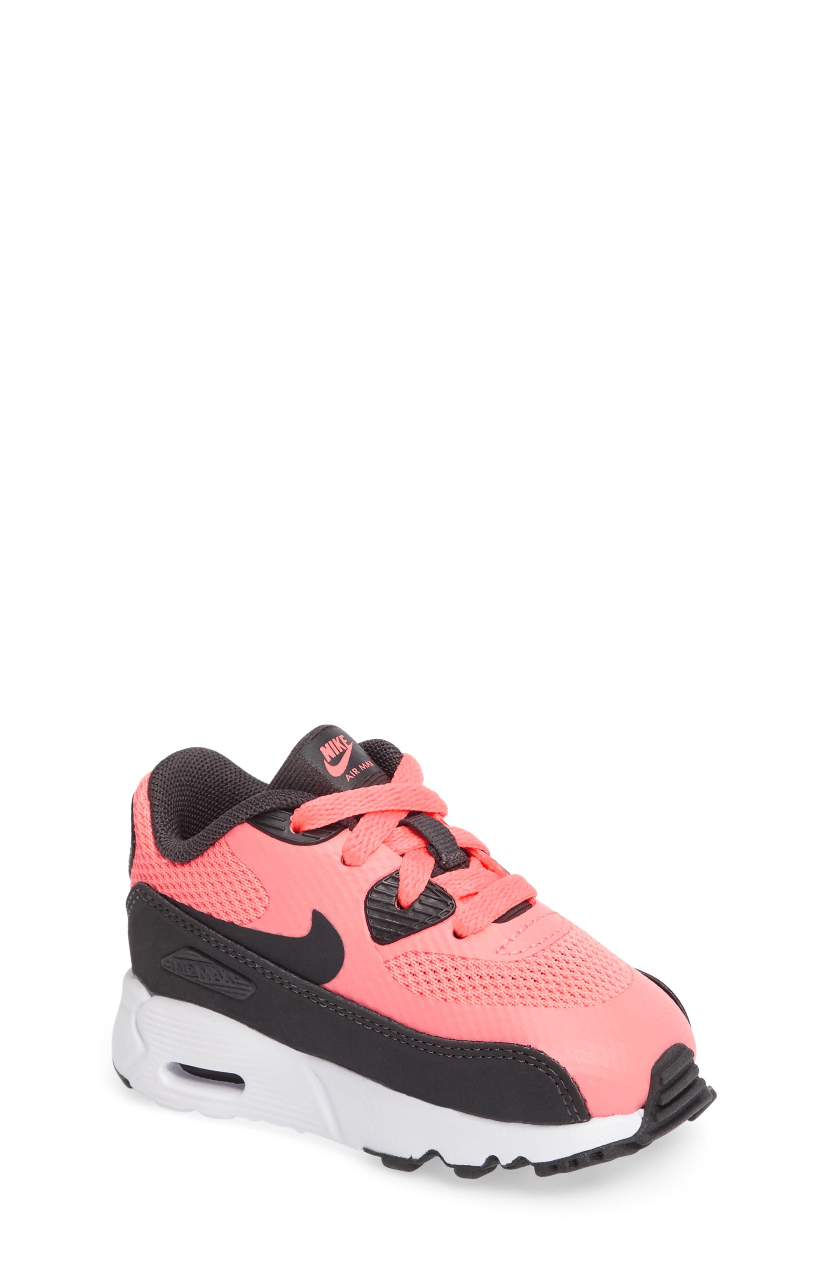 Air Max 90 Ultra 2.0 Sneaker,                             Main thumbnail 1, color,                             Lava Glow/ Anthracite/ White