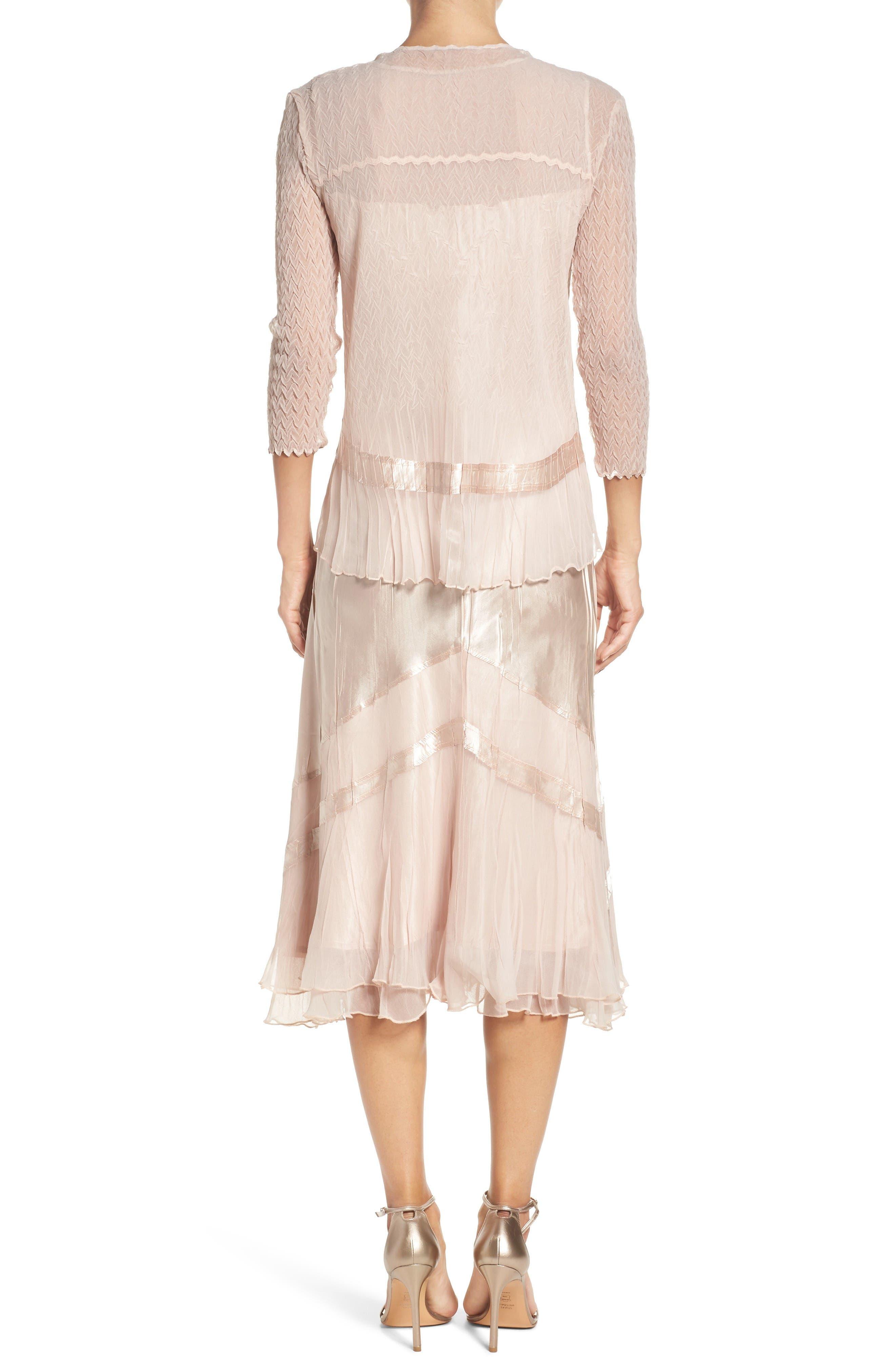 Alternate Image 3  - Komarov Embellished Midi Dress & Cascade Jacket (Regular & Petite)